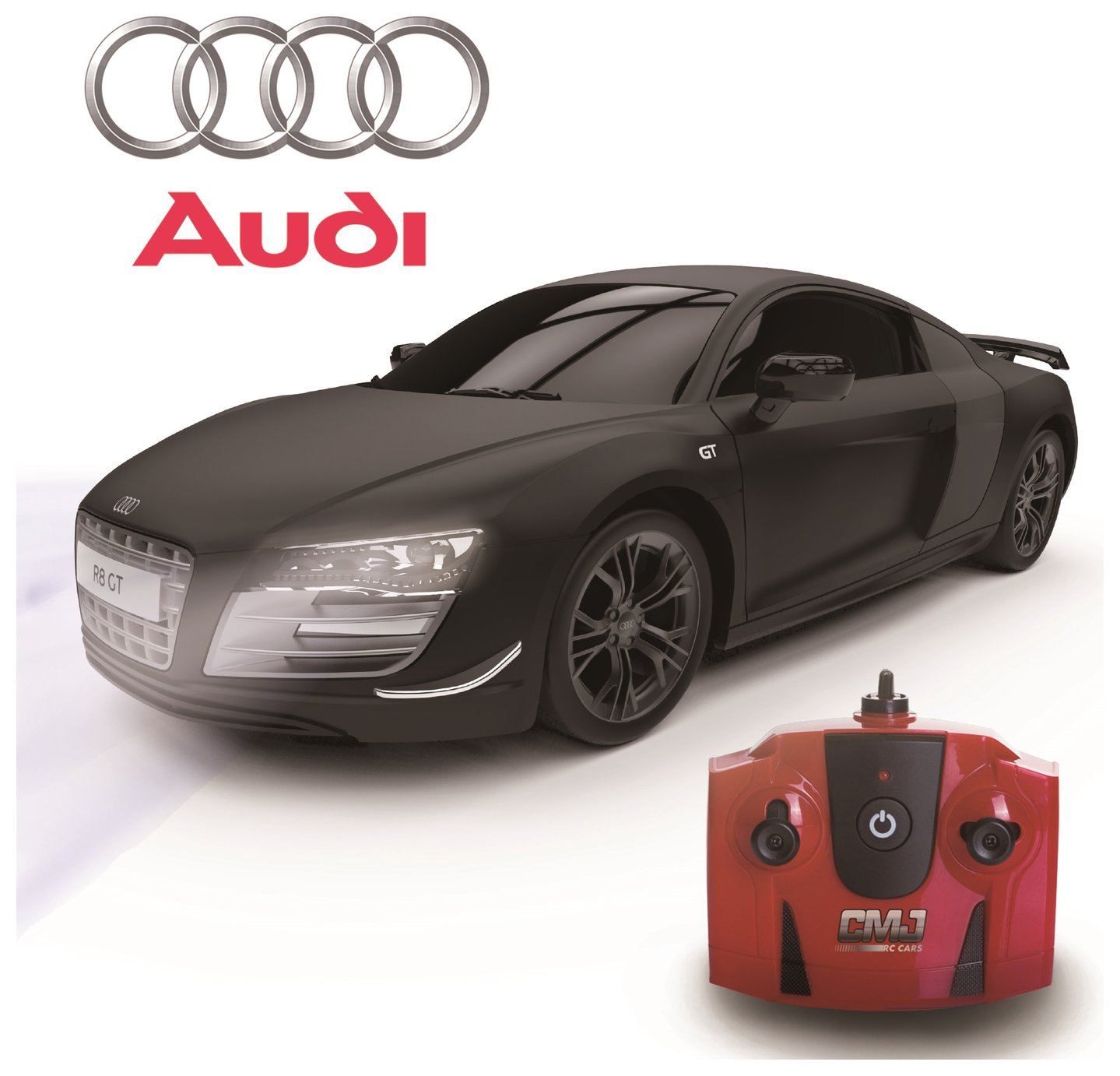 Image of Audi R8 1:24 Remote Control Car - Black.