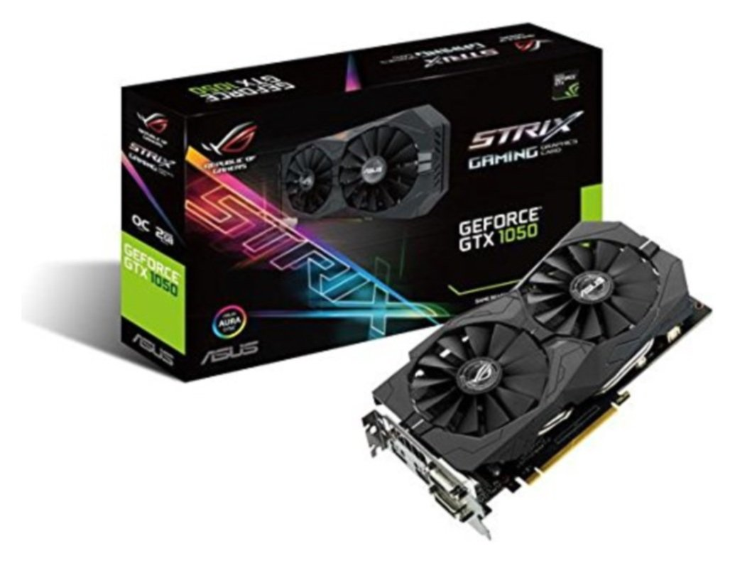 Image of Asus ROG Strix GeForce NVIDIA GTX 1050 2GB Graphics Card.