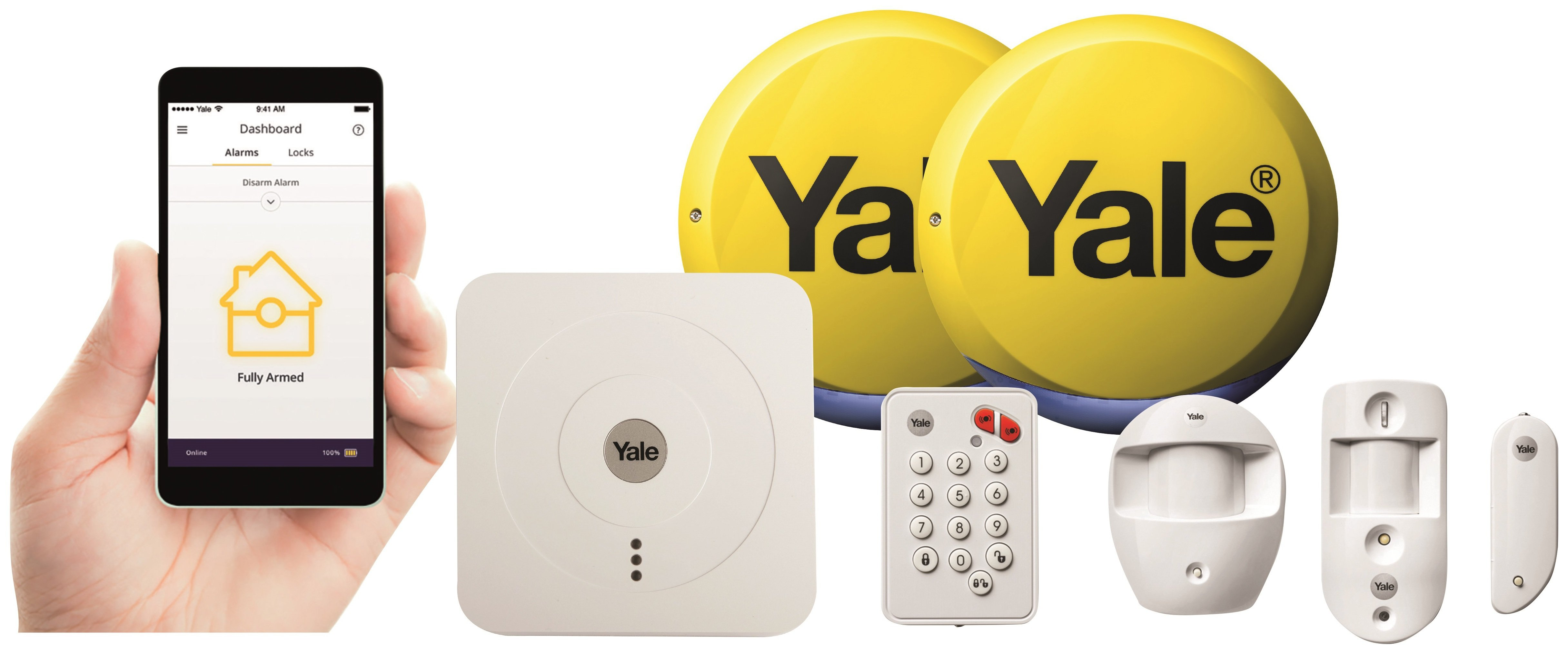 Yale Smart Home Alarm and View Kit.