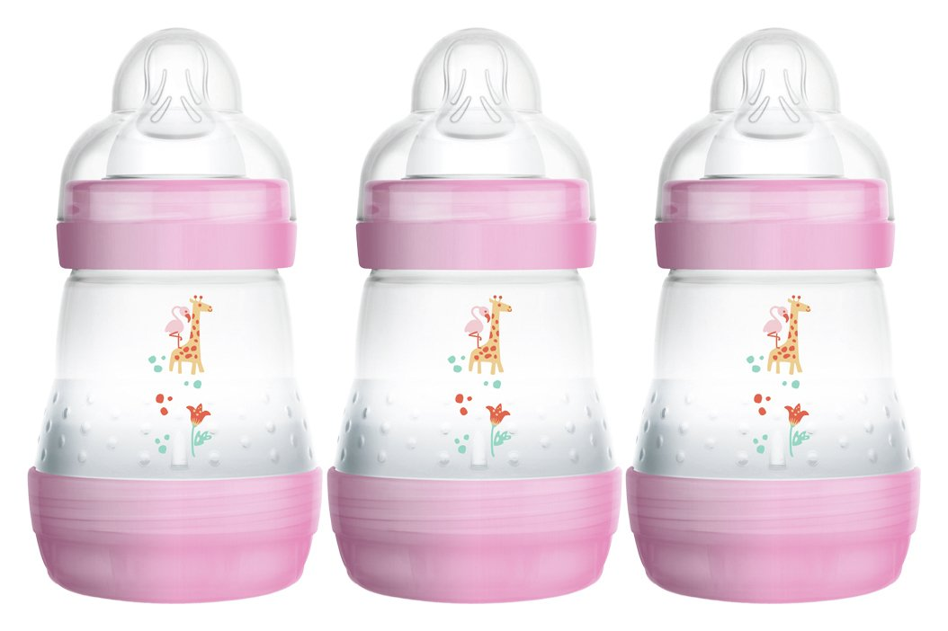 Image of MAM Easy Start Anti-Colic 160ml Bottle 3 Pack - Pink.
