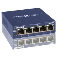 Netgear GS105UK 5 Port Gigabit Ethernet Switch.