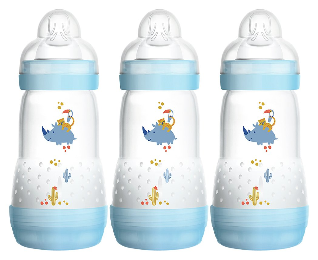 Image of MAM Easy Start Anti-Colic 260ml Bottle 3 Pack - Blue