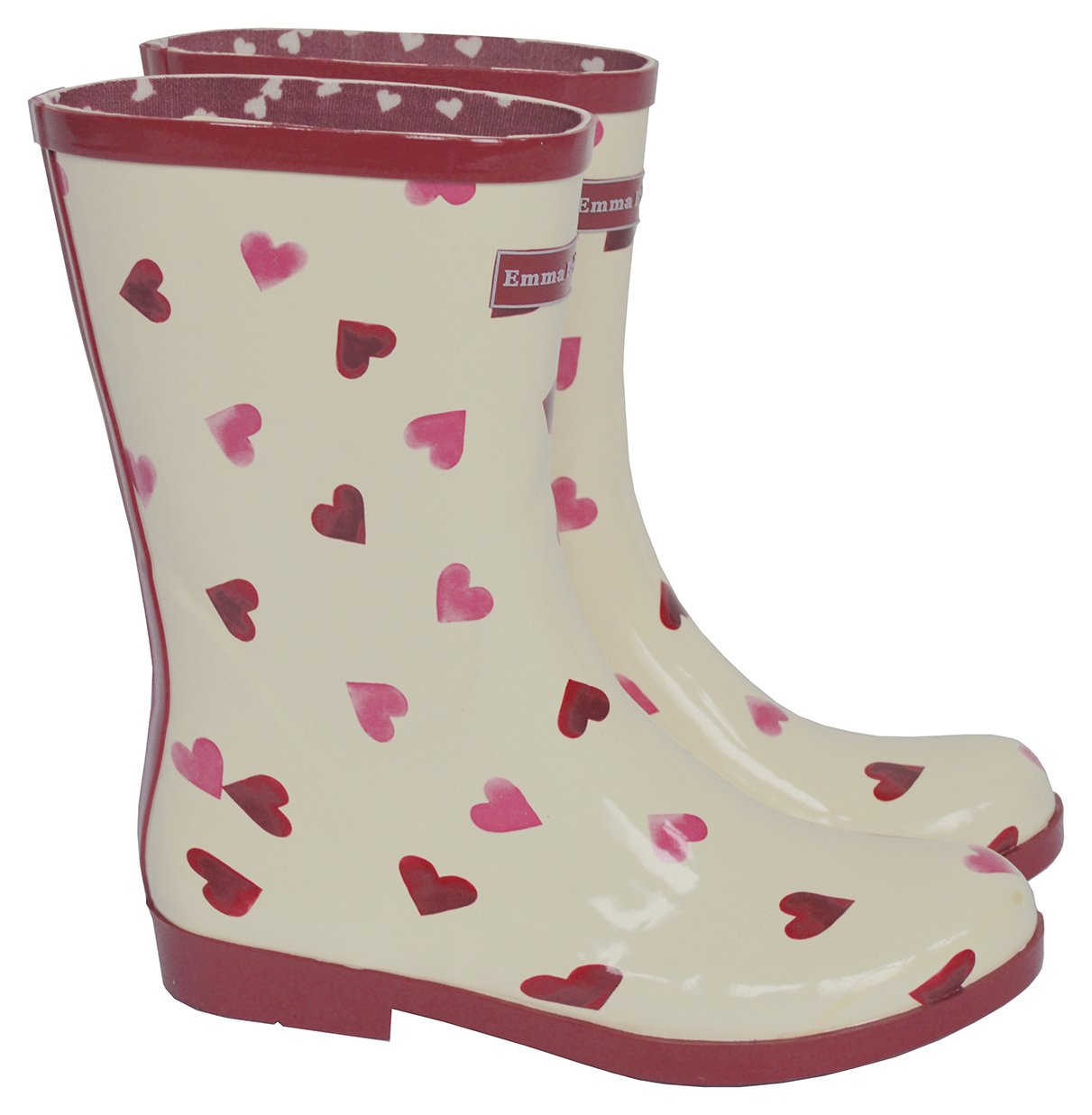 Image of Emma Bridgewater - Womens - Short Heart Wellies - Size 4