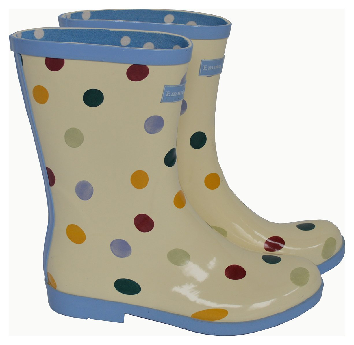 Image of Emma Bridgewater - Womens - Short Spot Wellies - Size 4