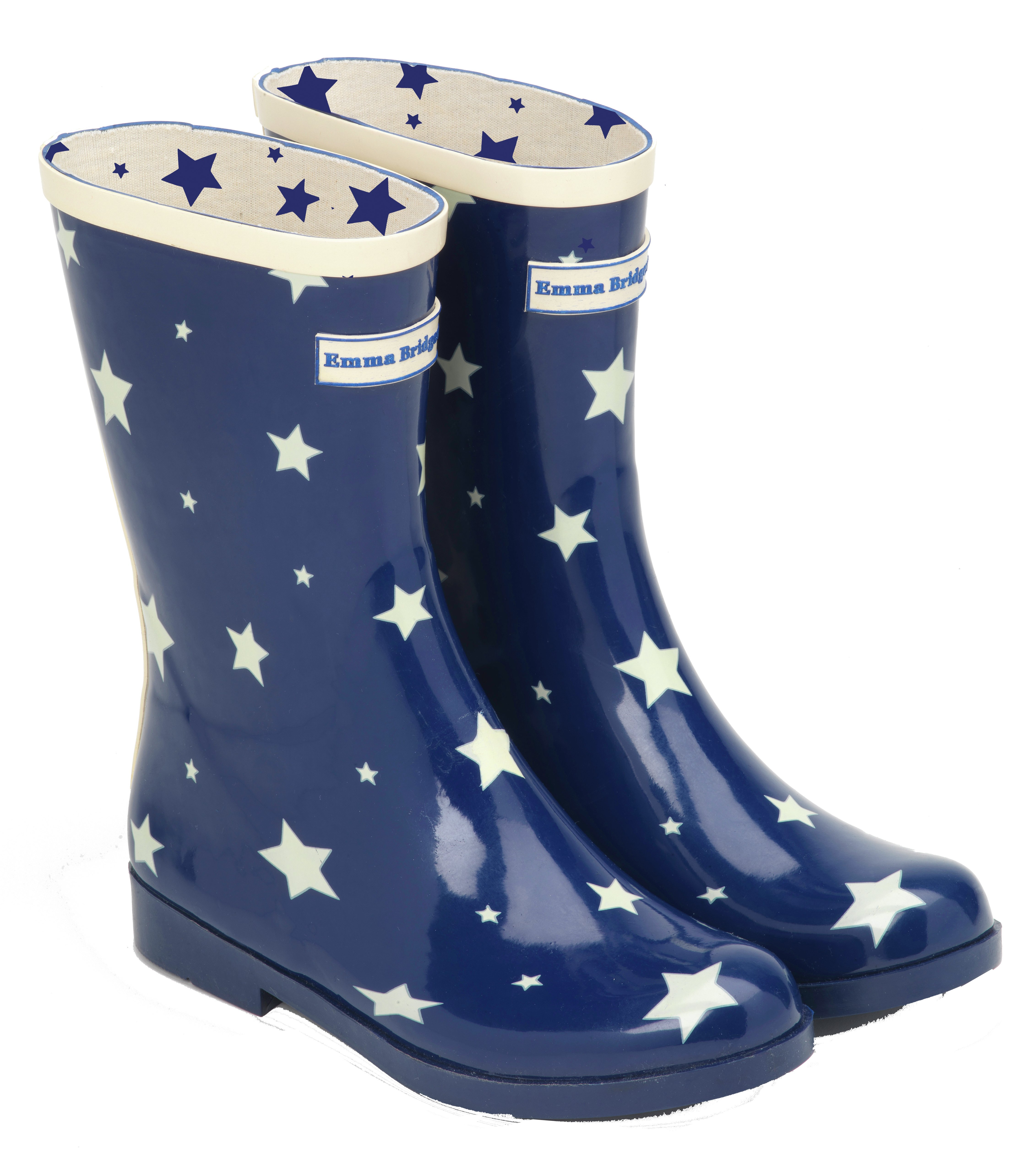 Image of Emma Bridgewater - Womens - Short Starry Skies Wellies - Size 3