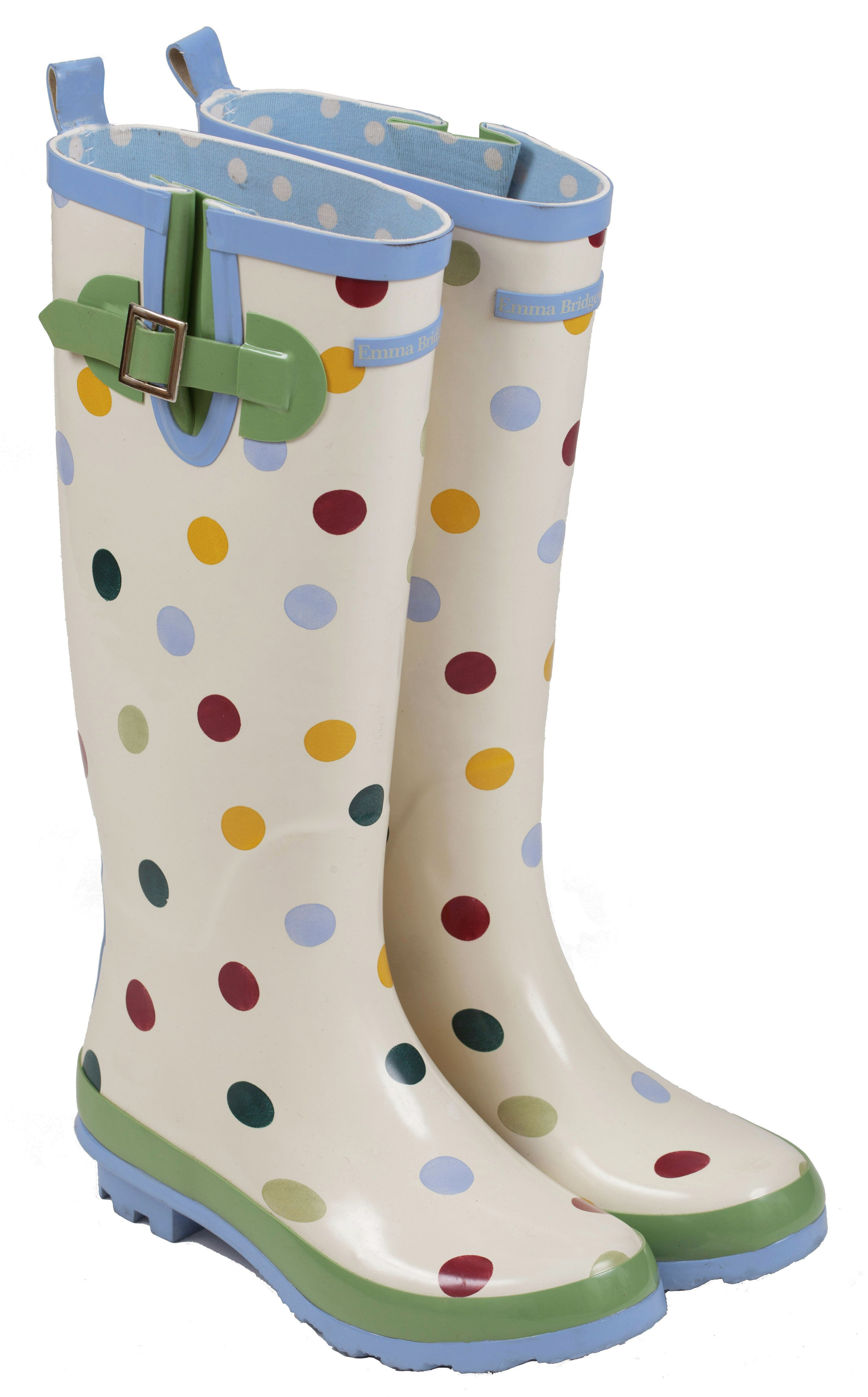 Image of Emma Bridgewater - Womens - Tall Spot Wellies - Size 3