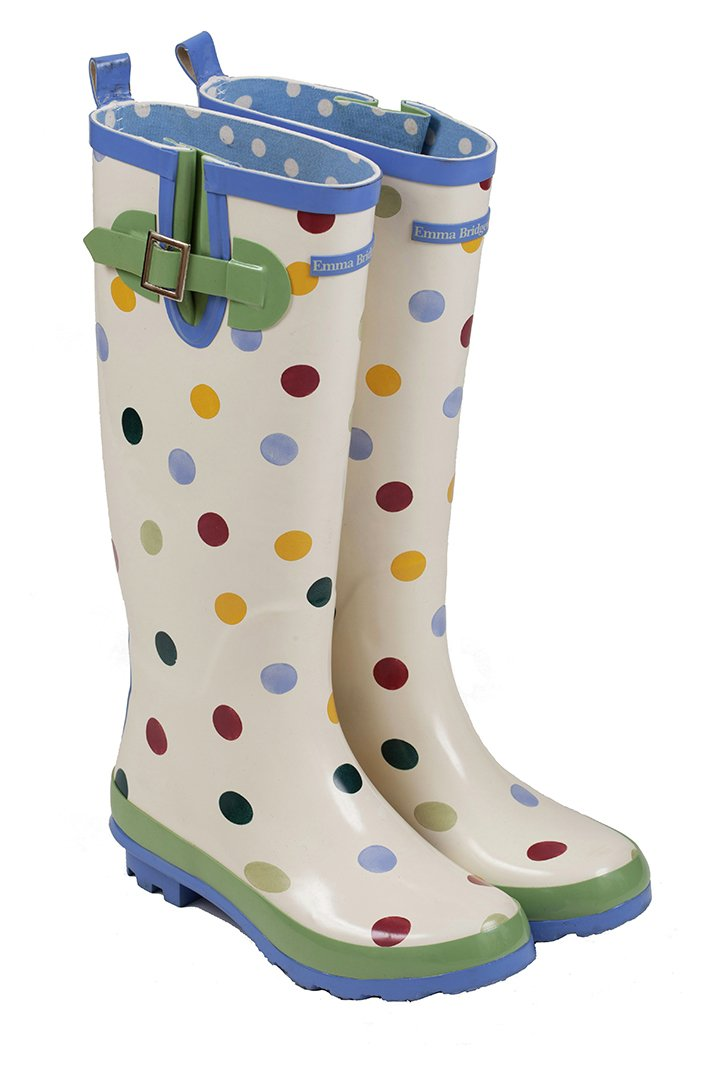 Image of Emma Bridgewater - Womens - Tall Spot Wellies - Size 8
