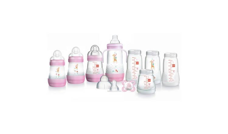 Small Pink MAM Easy Start Self Sterilising Anti Colic Starter Set