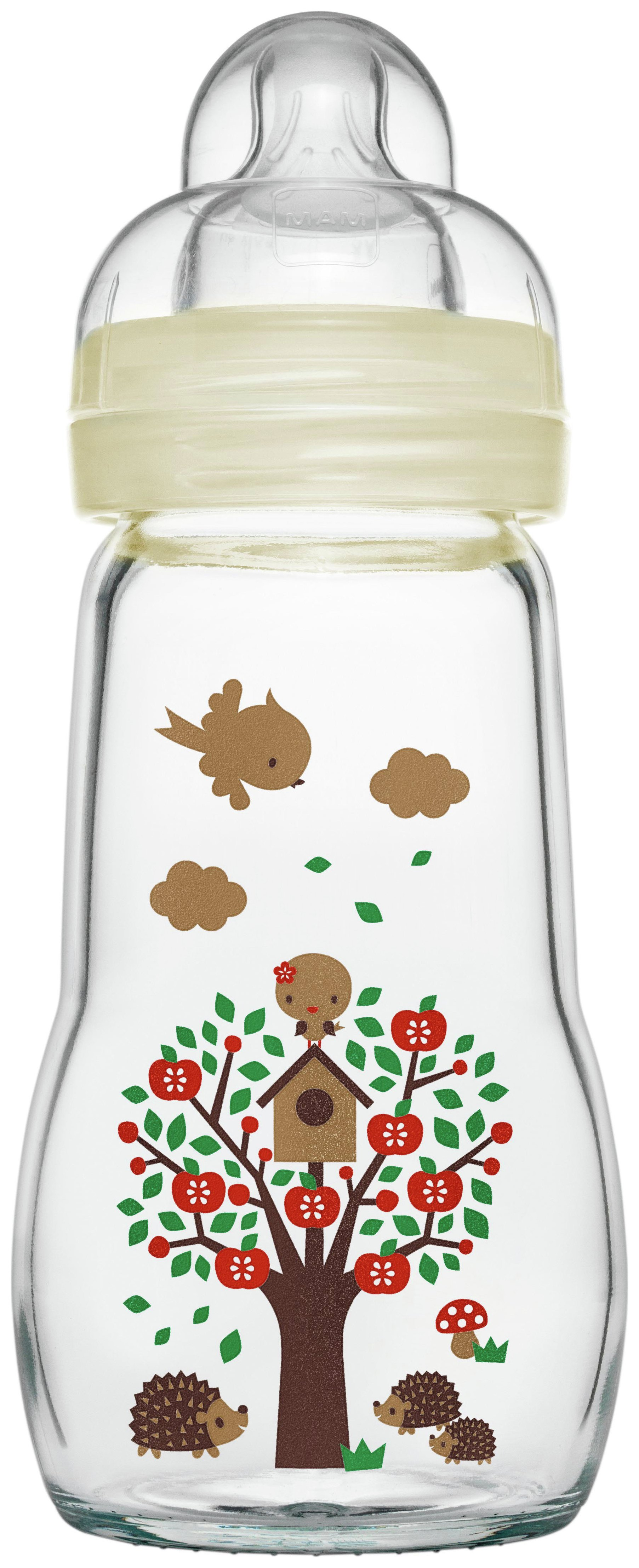 Image of MAM Feel Good 260ml Glass Bottle.