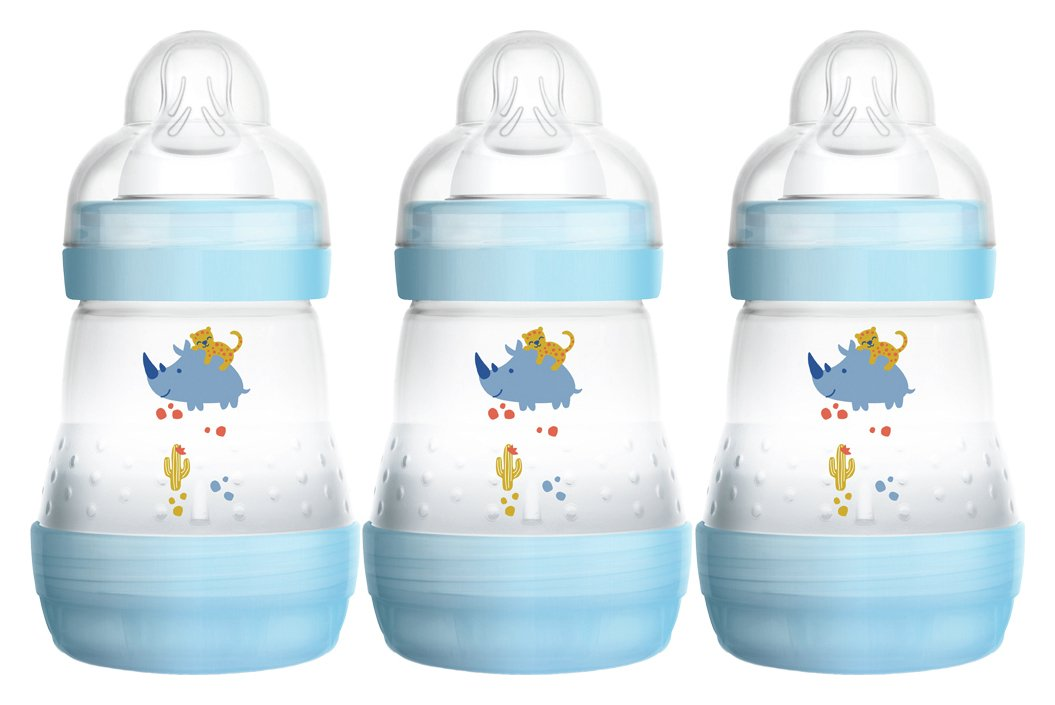 Image of MAM Easy Start Anti-Colic 160ml Bottle 3 Pack - Blue.
