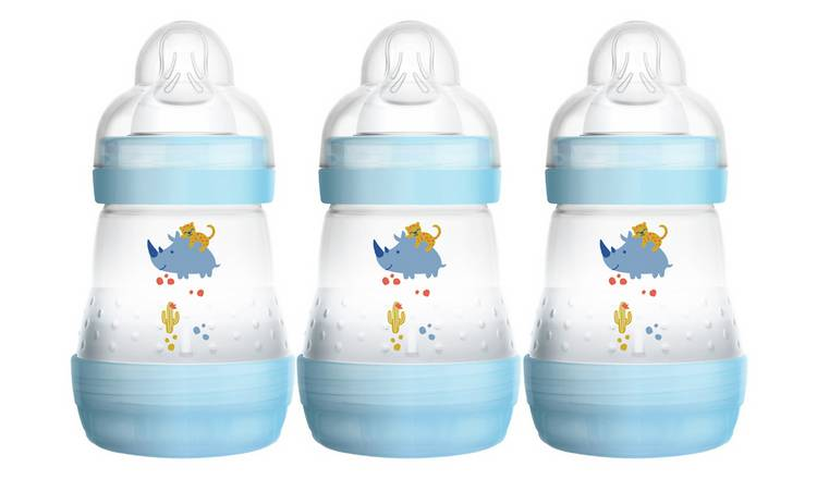 MAM Easy Start Anti-Colic 160ml Bottle 3 Pack - Blue.