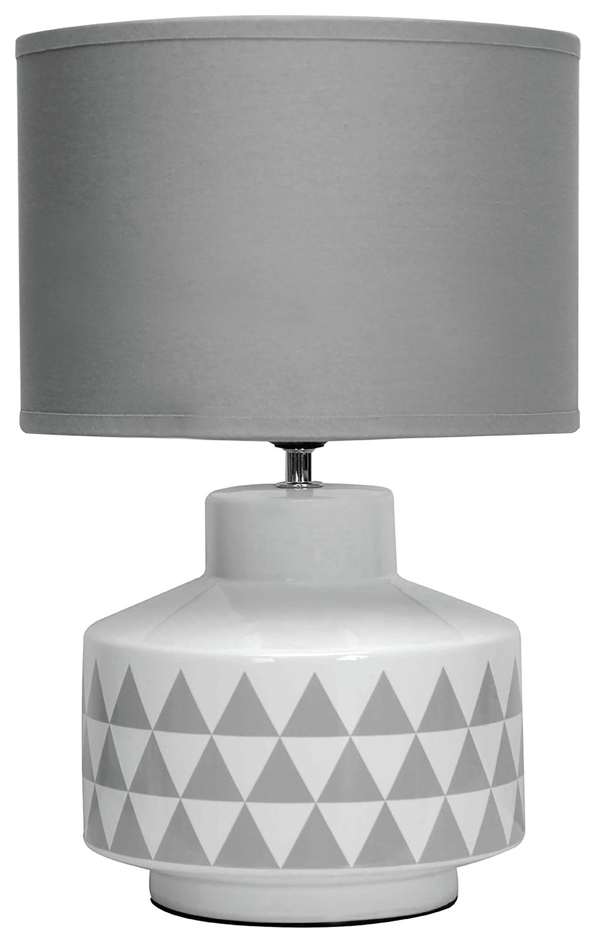 Image of Wylie - Ceramic & Fabric - Table Lamp - White & Grey