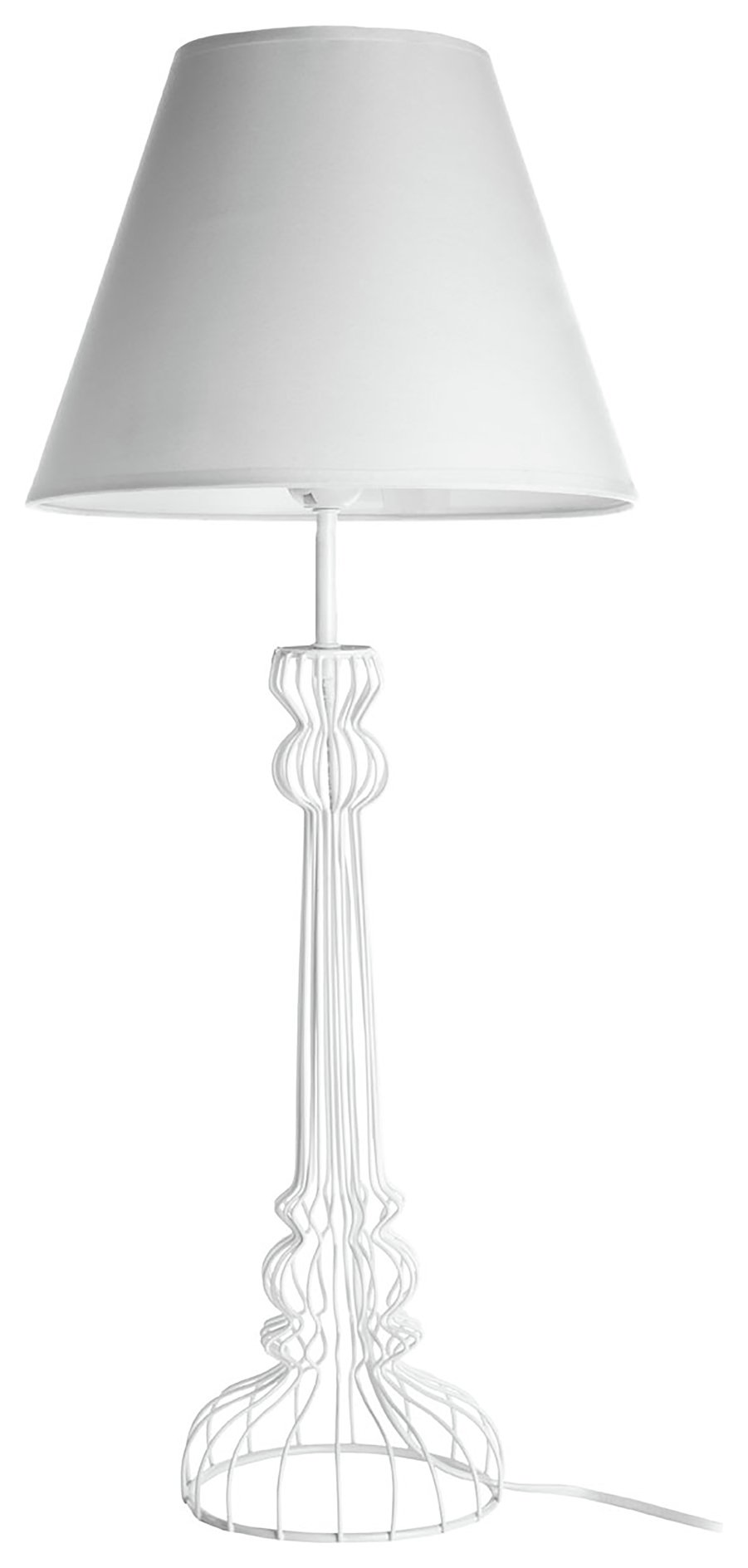 Image of Chicago Wire Base - Table Lamp - White
