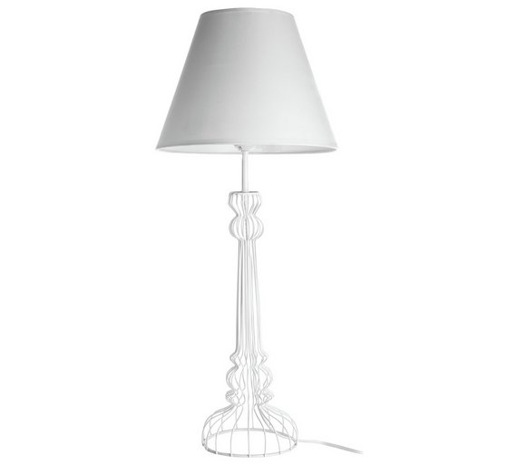 Buy chicago wire base table lamp white table lamps argos chicago wire base table lamp white greentooth Choice Image
