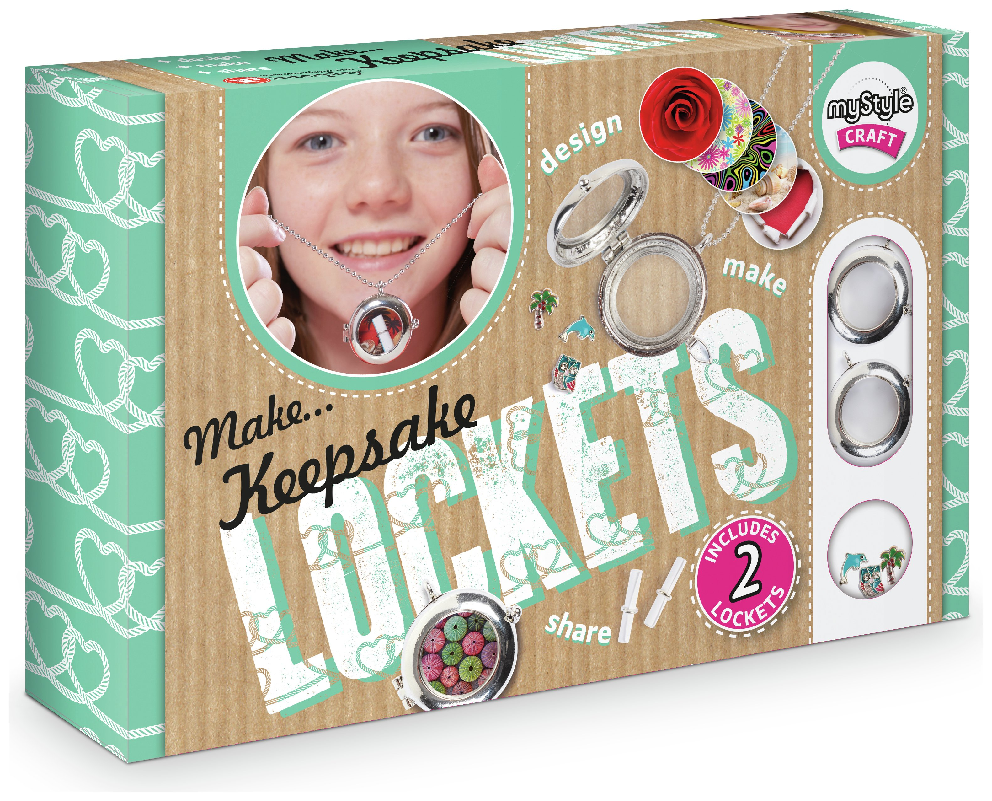 MyStyle Keepsake Lockets Craft Kit.