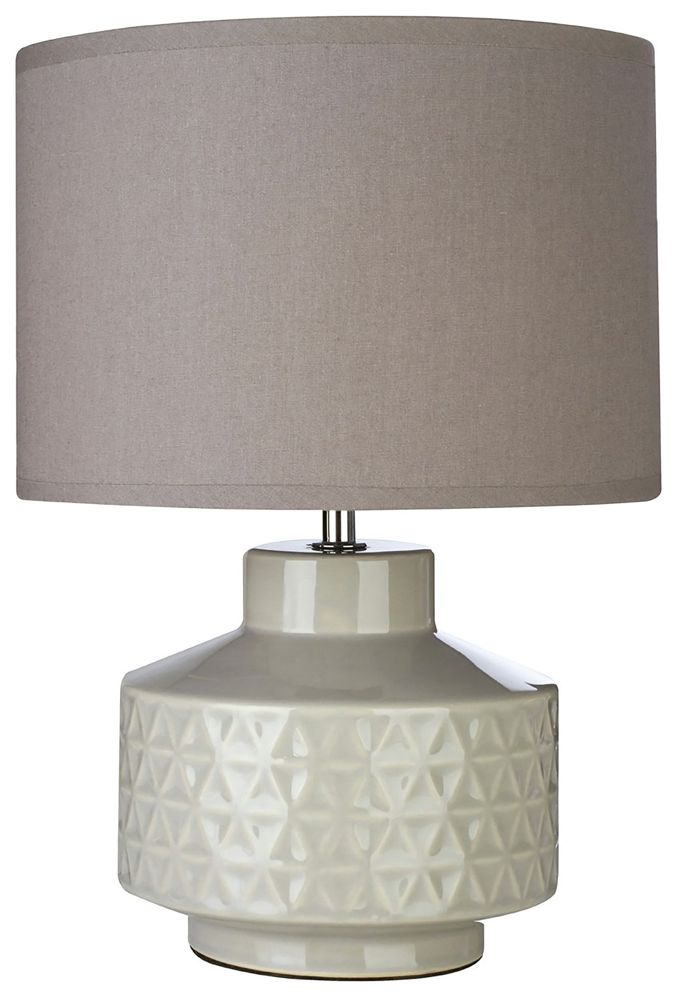 Image of Waverly - Ceramic - Table Lamp - Grey
