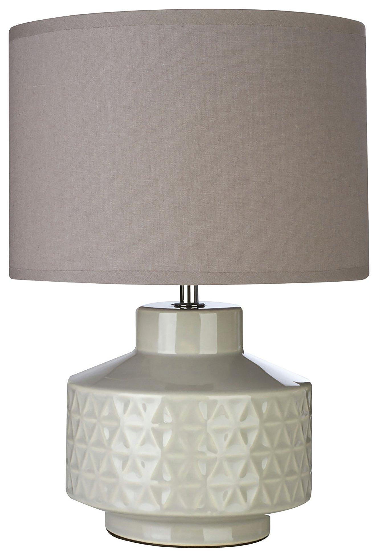 Waverly Ceramic Table Lamp - Grey
