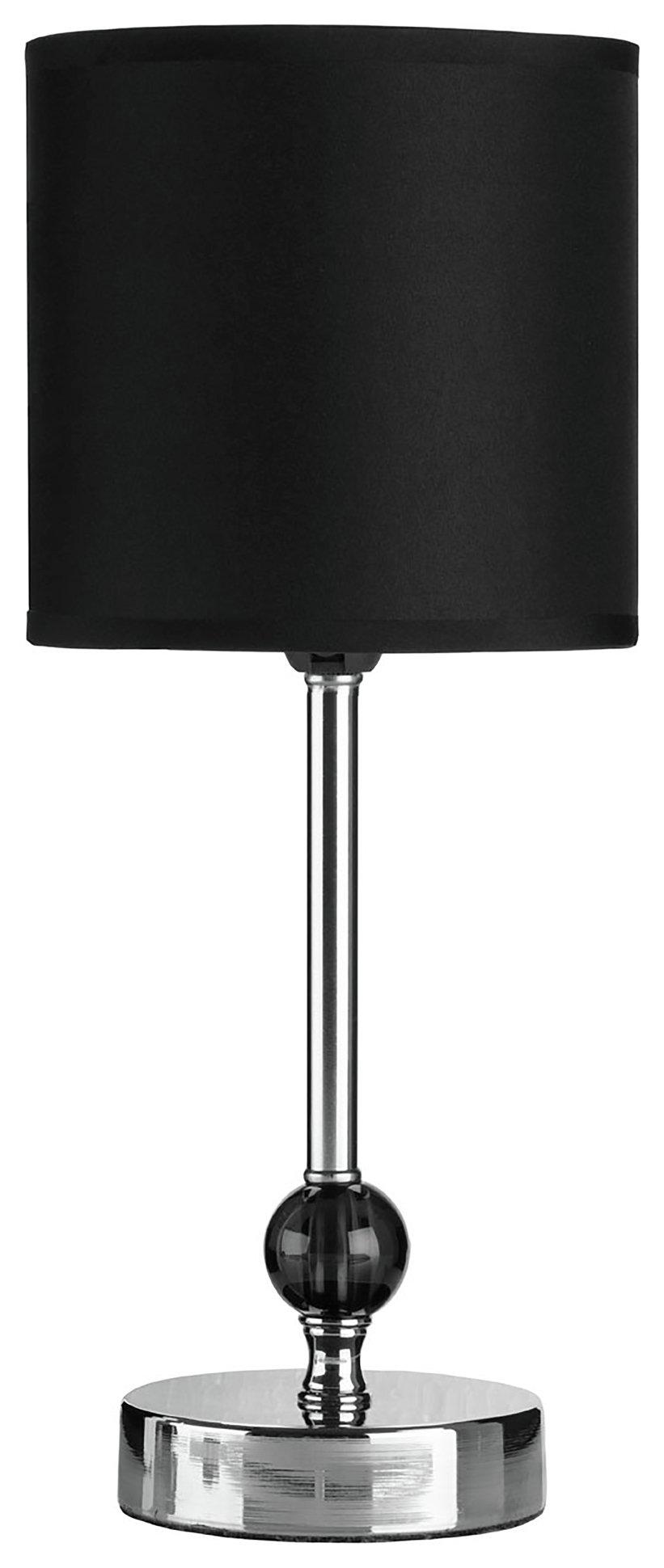 Image of Acrylic Ball - Table Lamp - Chrome & Black