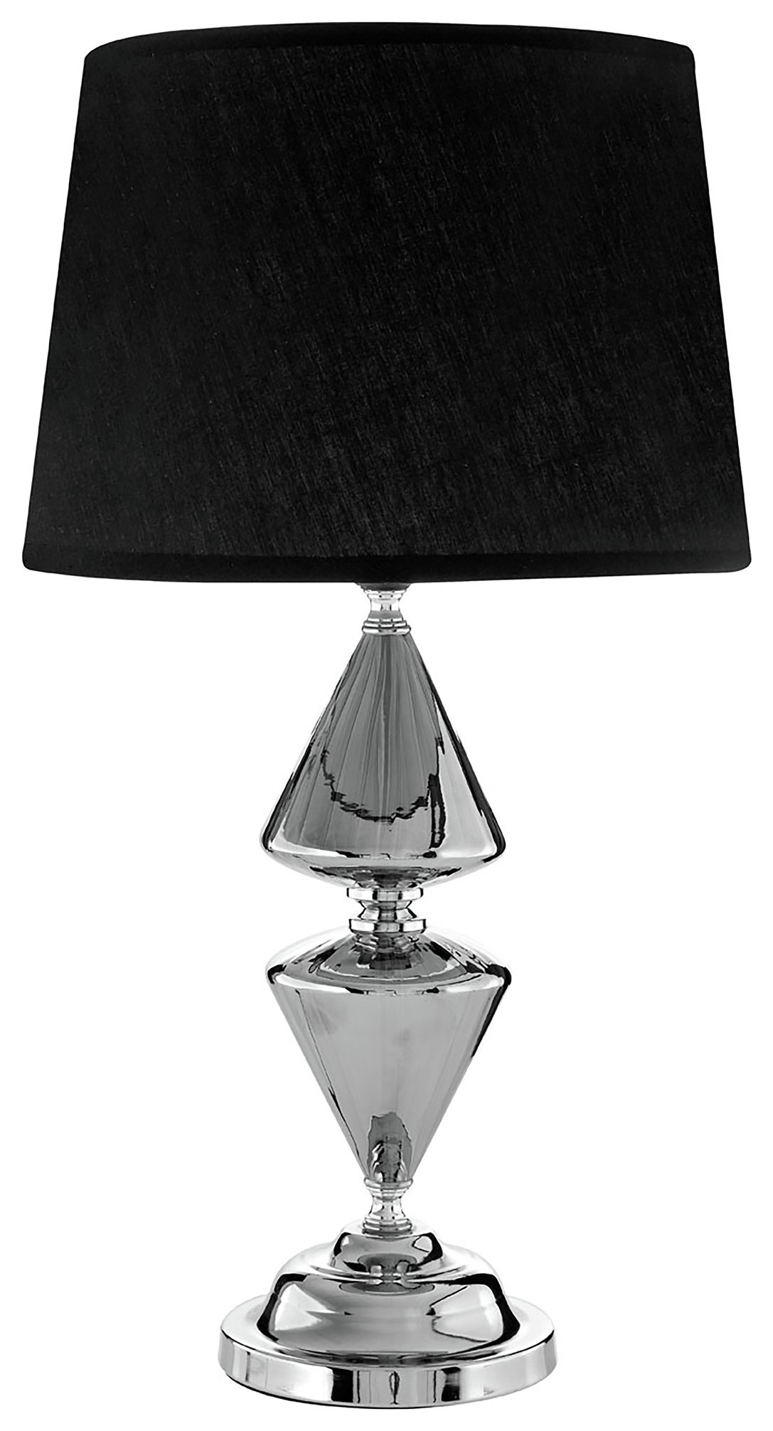 Image of Honor Glass & Metal - Table Lamp - Black