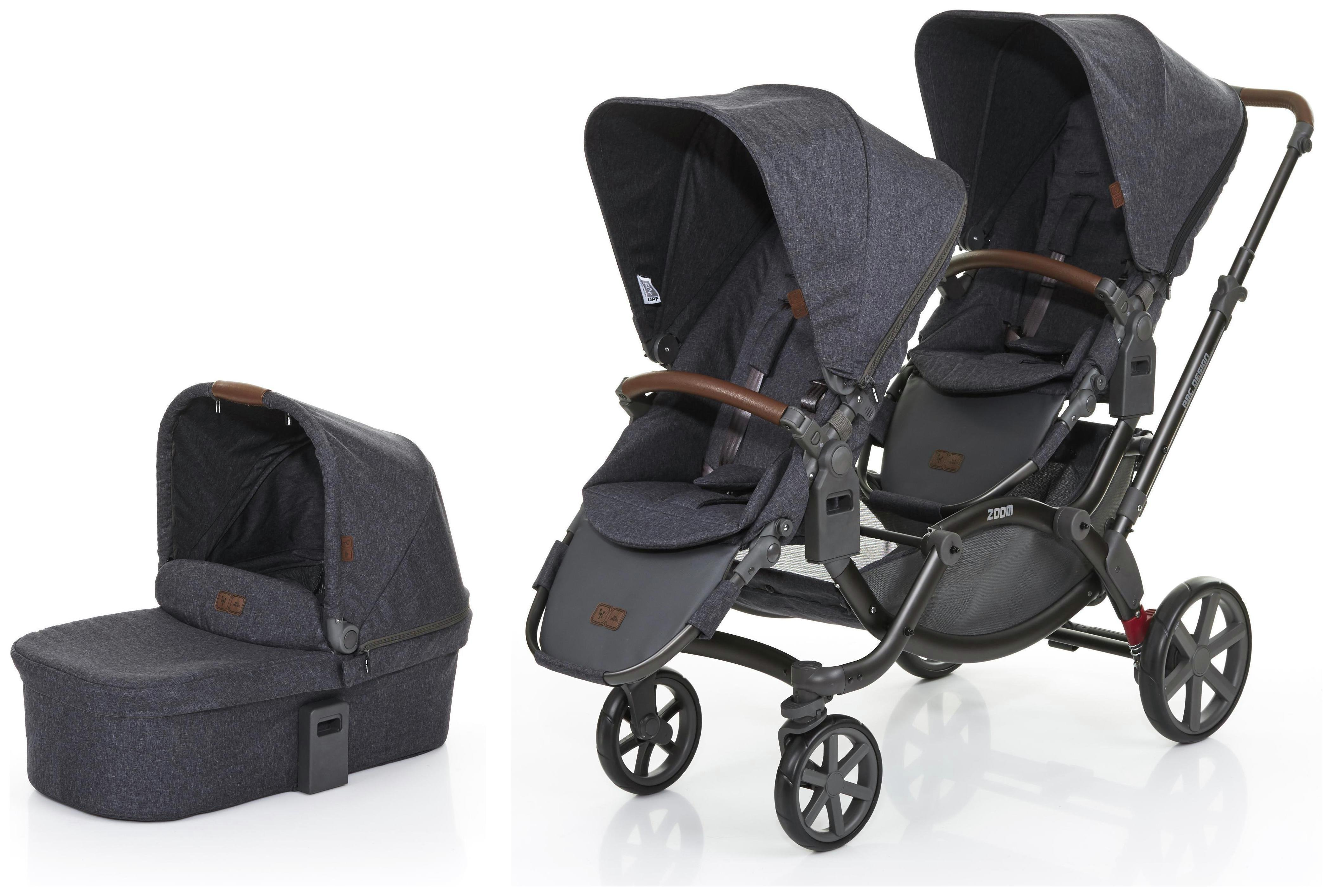 Image of ABC Design Zoom Tandem Pushchair and 1 Carrycot - Street