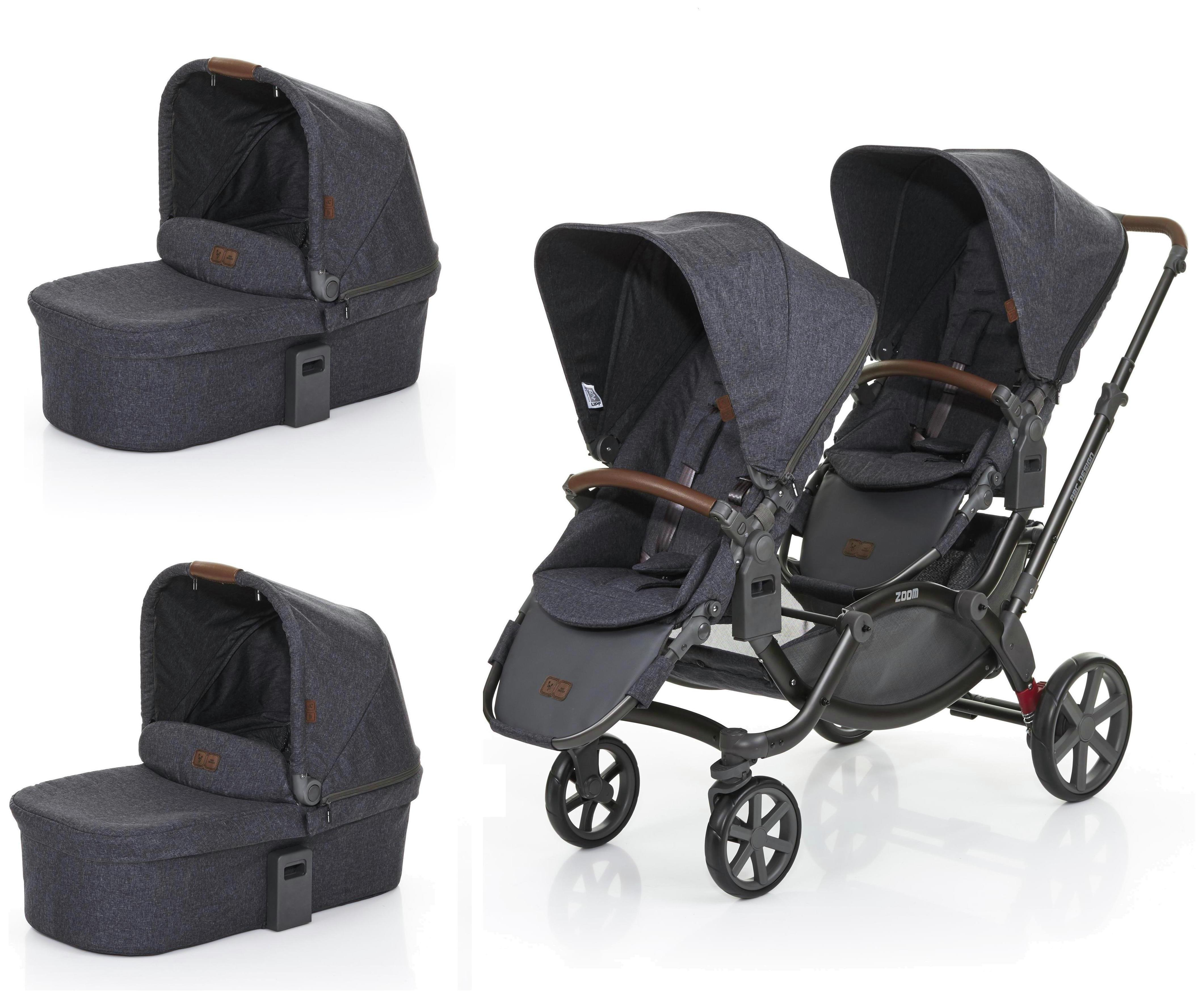 Image of ABC Design Zoom Tandem & 2 Carrycots - Street