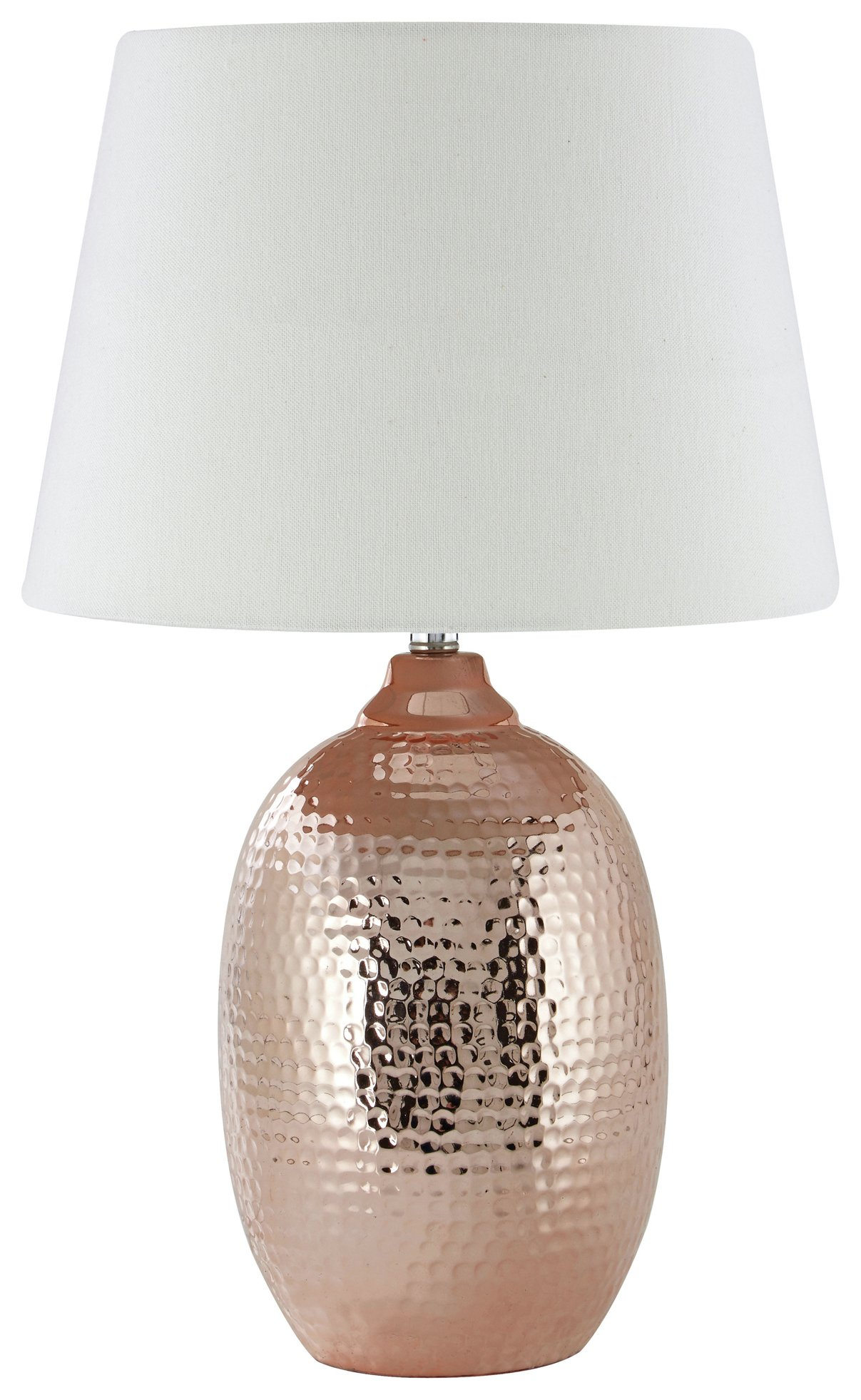 Image of Jane Hammered Copper - Table Lamp - Ivory