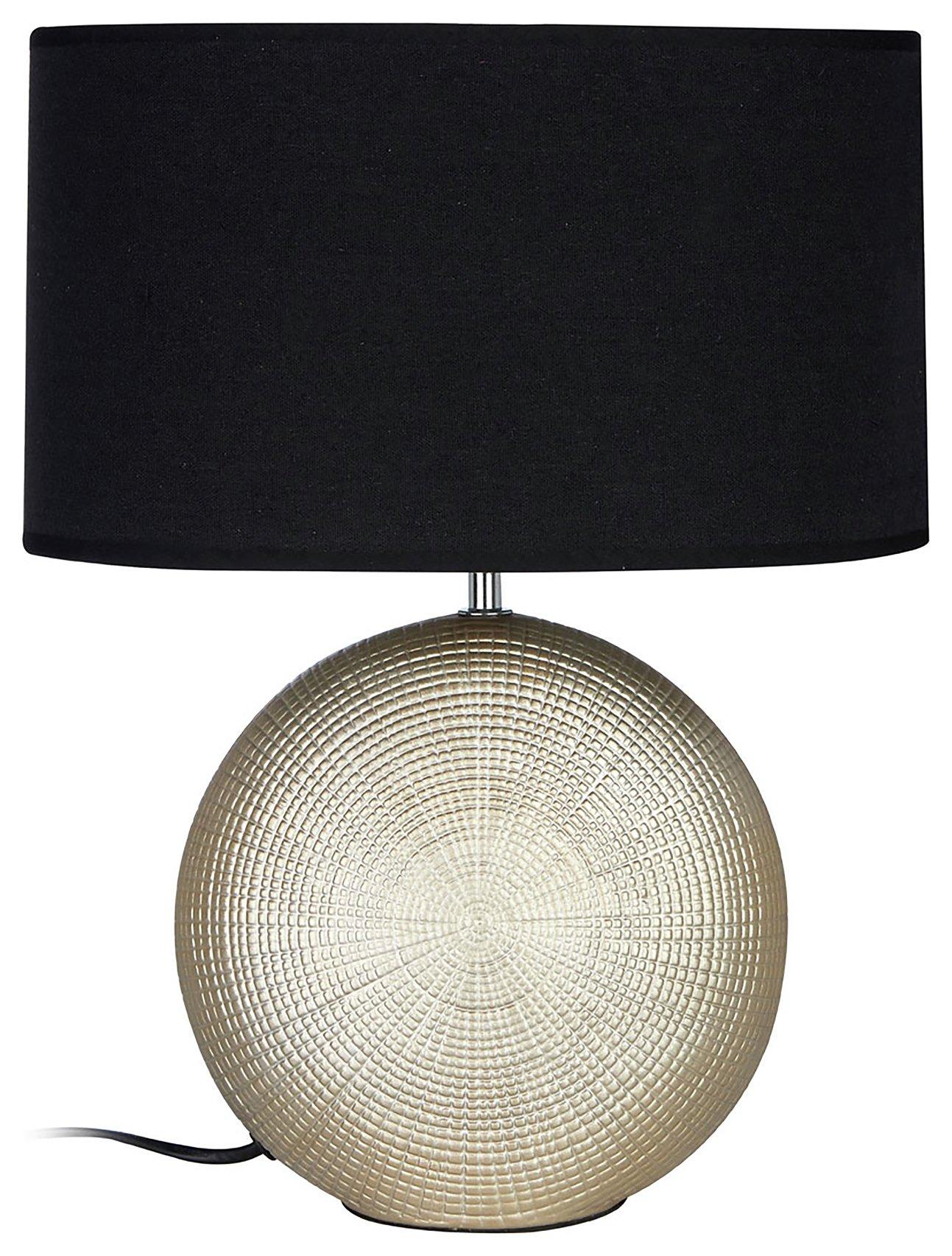 Image of Whisper - Ceramic - Table Lamp - Black & Gold