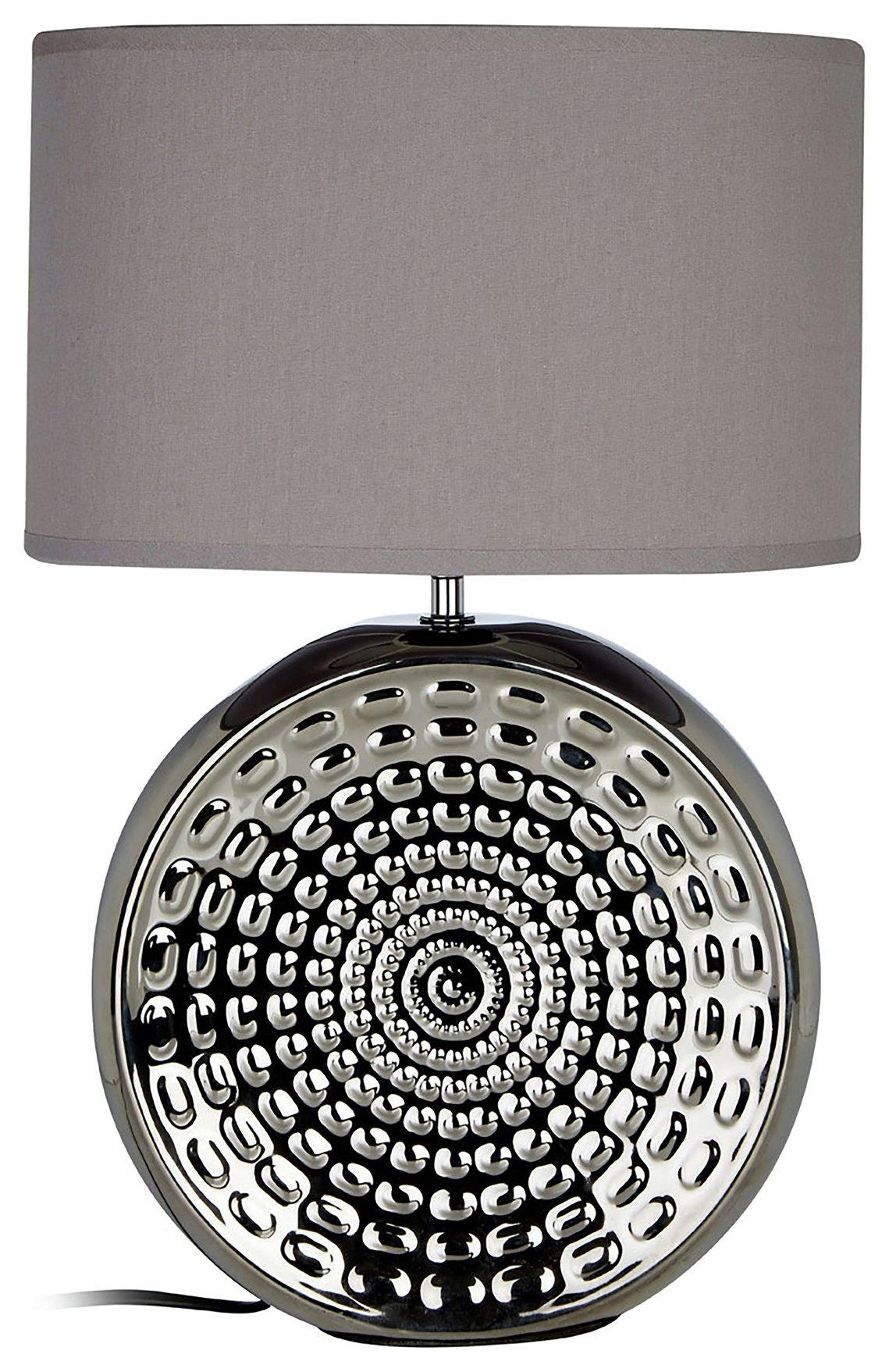 Win Ceramic Table Lamp - Chrome & Grey