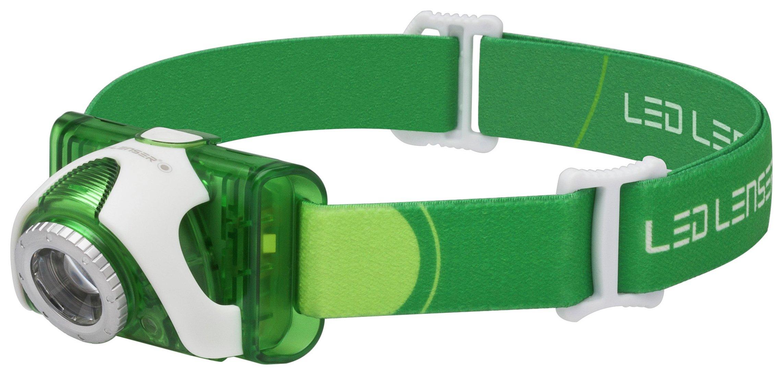 LED Lenser SEO3 Green Head Lamp.