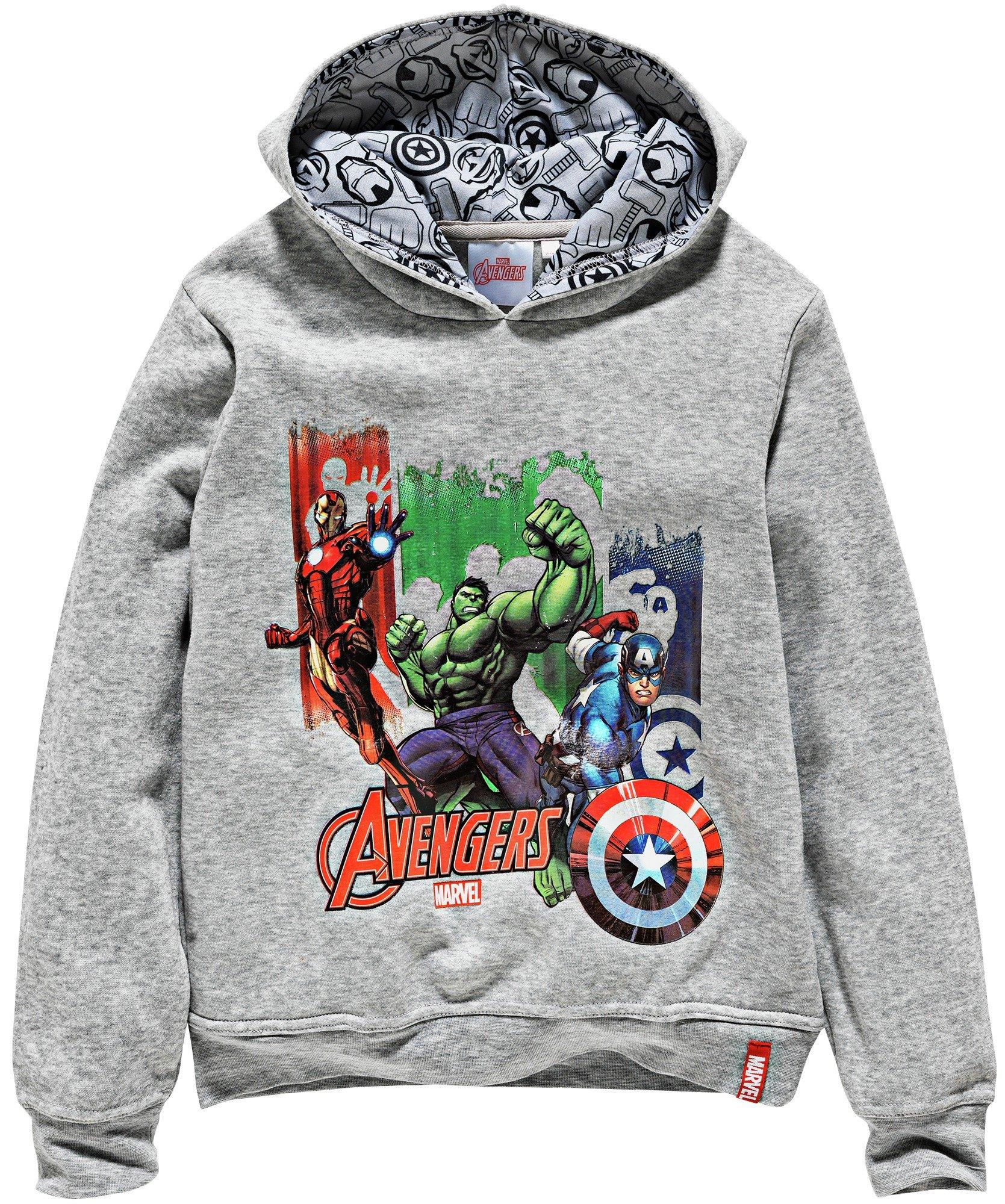 Image of Avengers Grey Hoodie - 7-8 Years