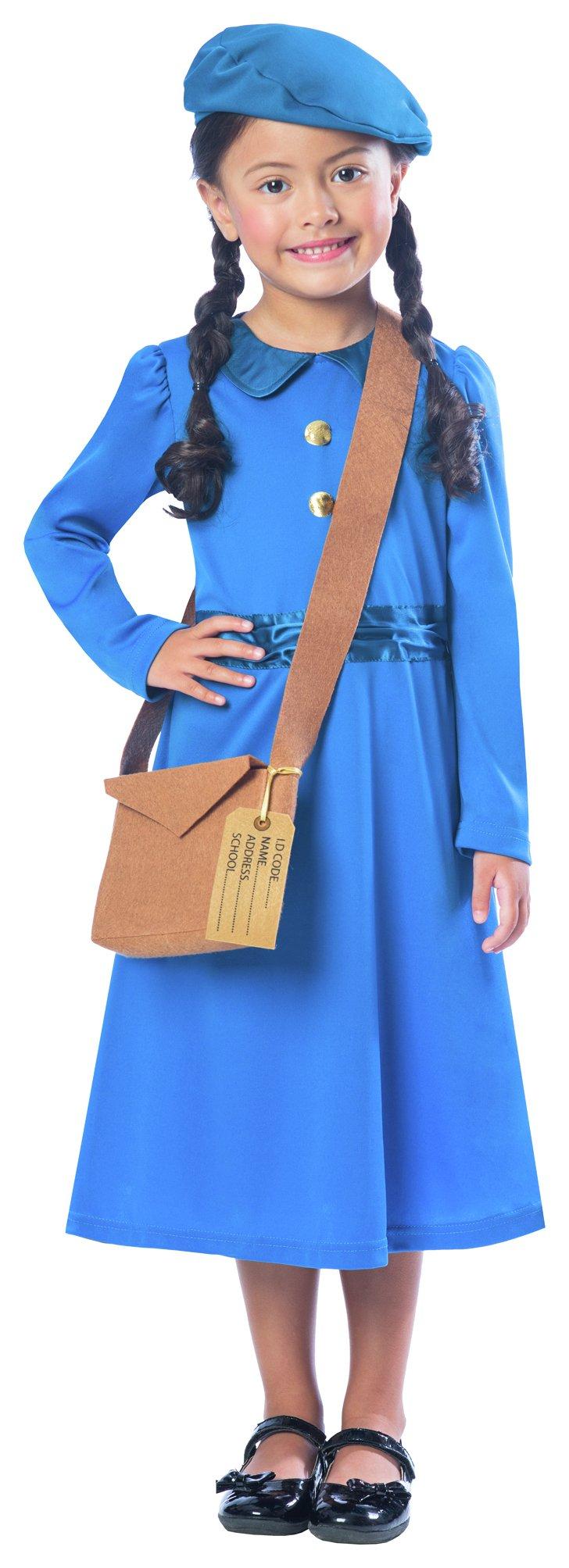 Image of Amscan Evacuee Girl Costume - 3 - 4 Years.