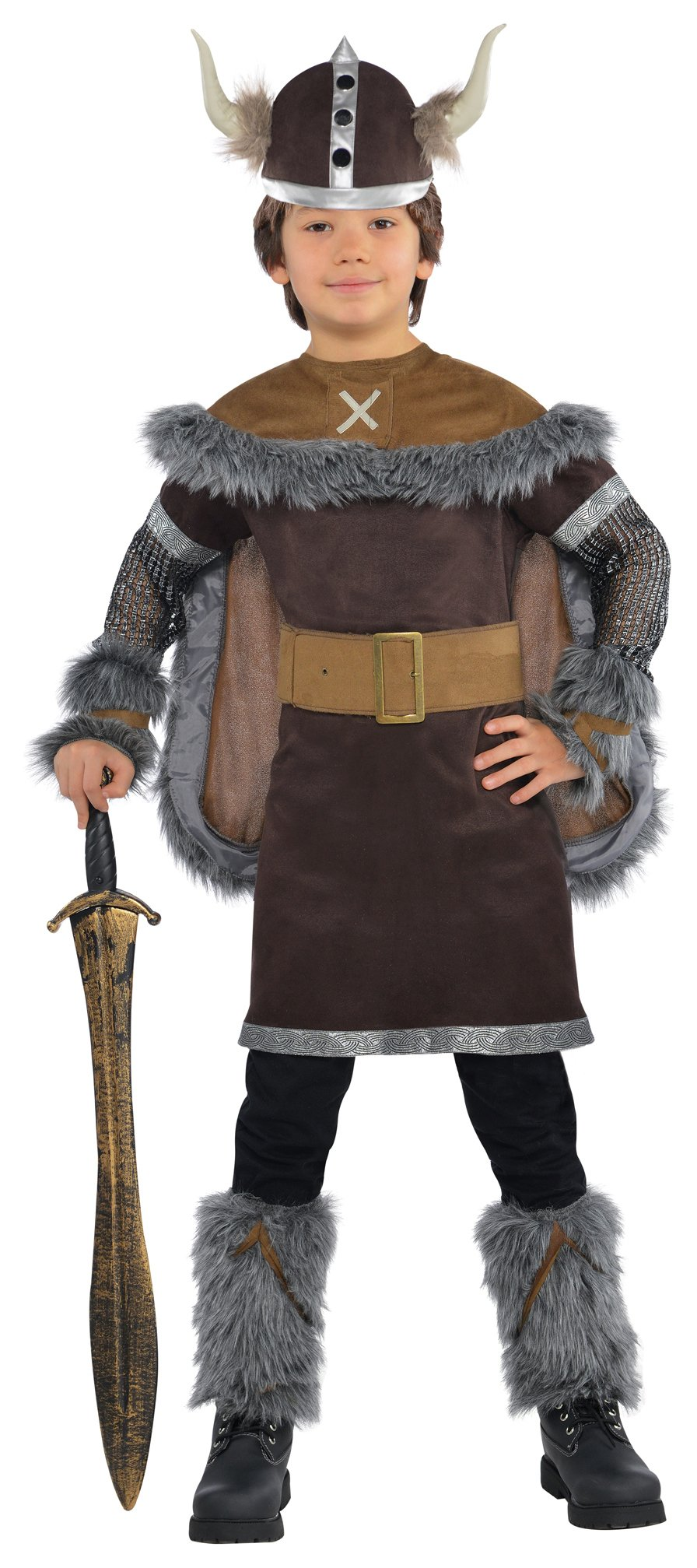 Image of Amscan Deluxe Viking Warrior Costume - 4 - 6 Years.