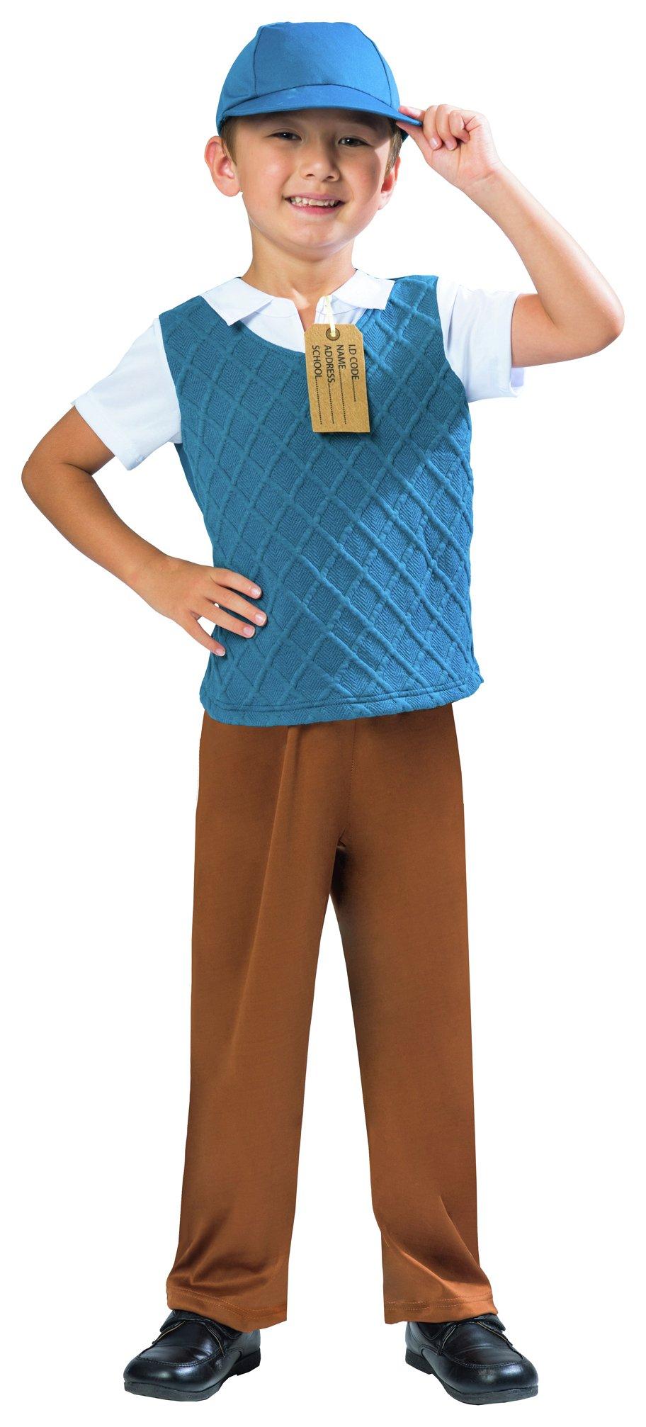 Image of Amscan Evacuee Boy Costume - 5 - 6 Years.