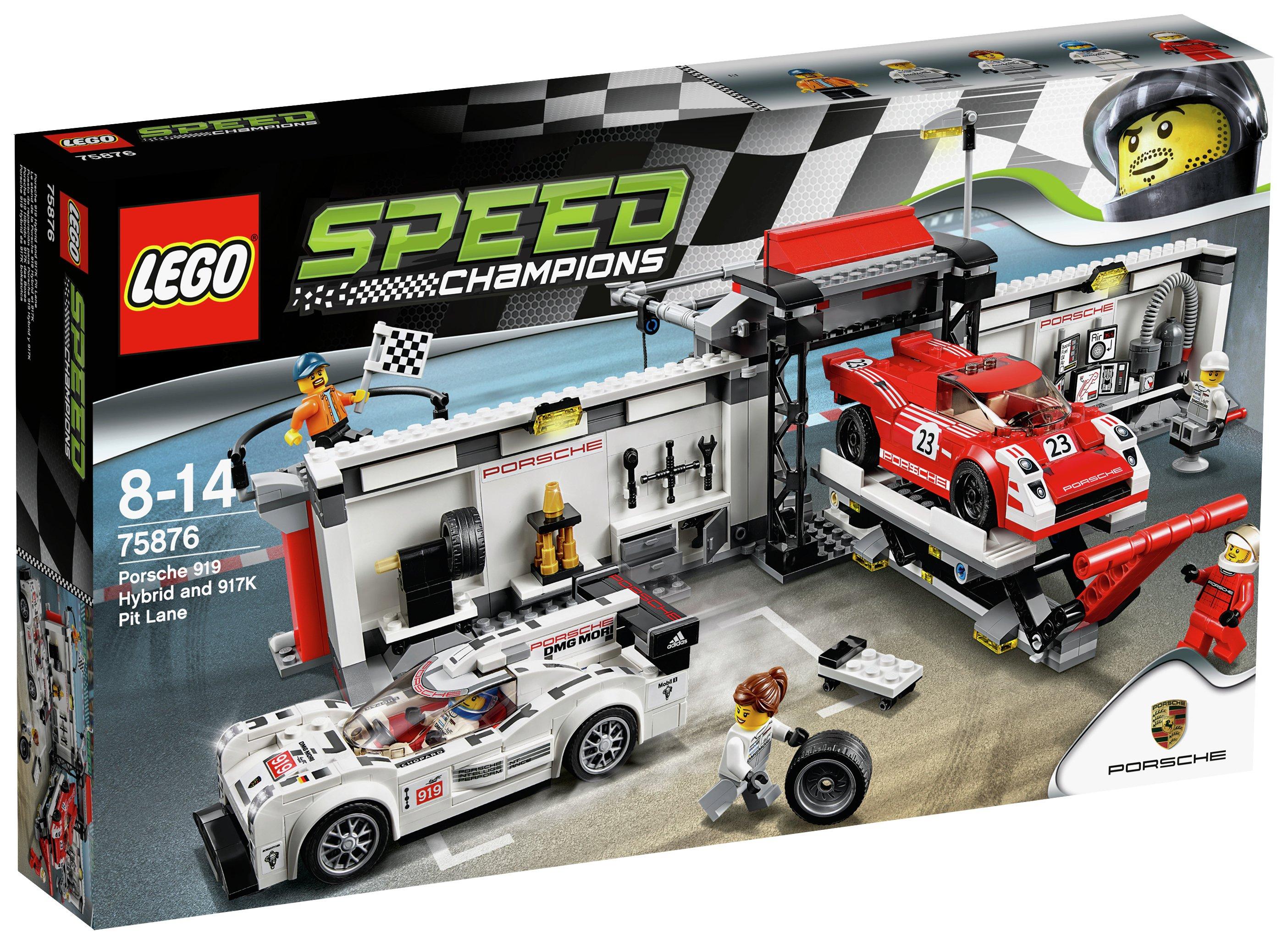 Image of LEGO Speedchamps Porsche 919 Hybrid & PI - 75876.