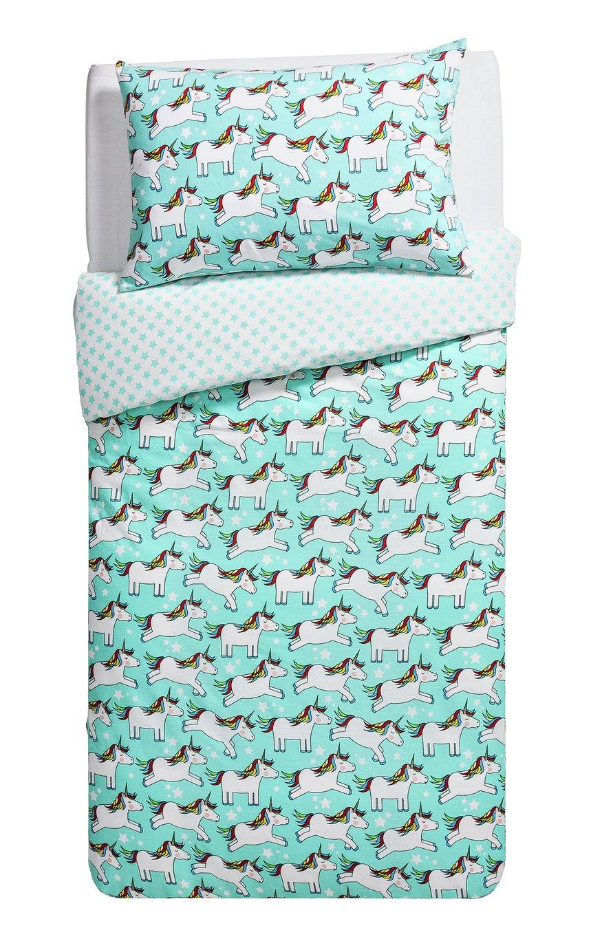 home unicorn bedding set  toddler