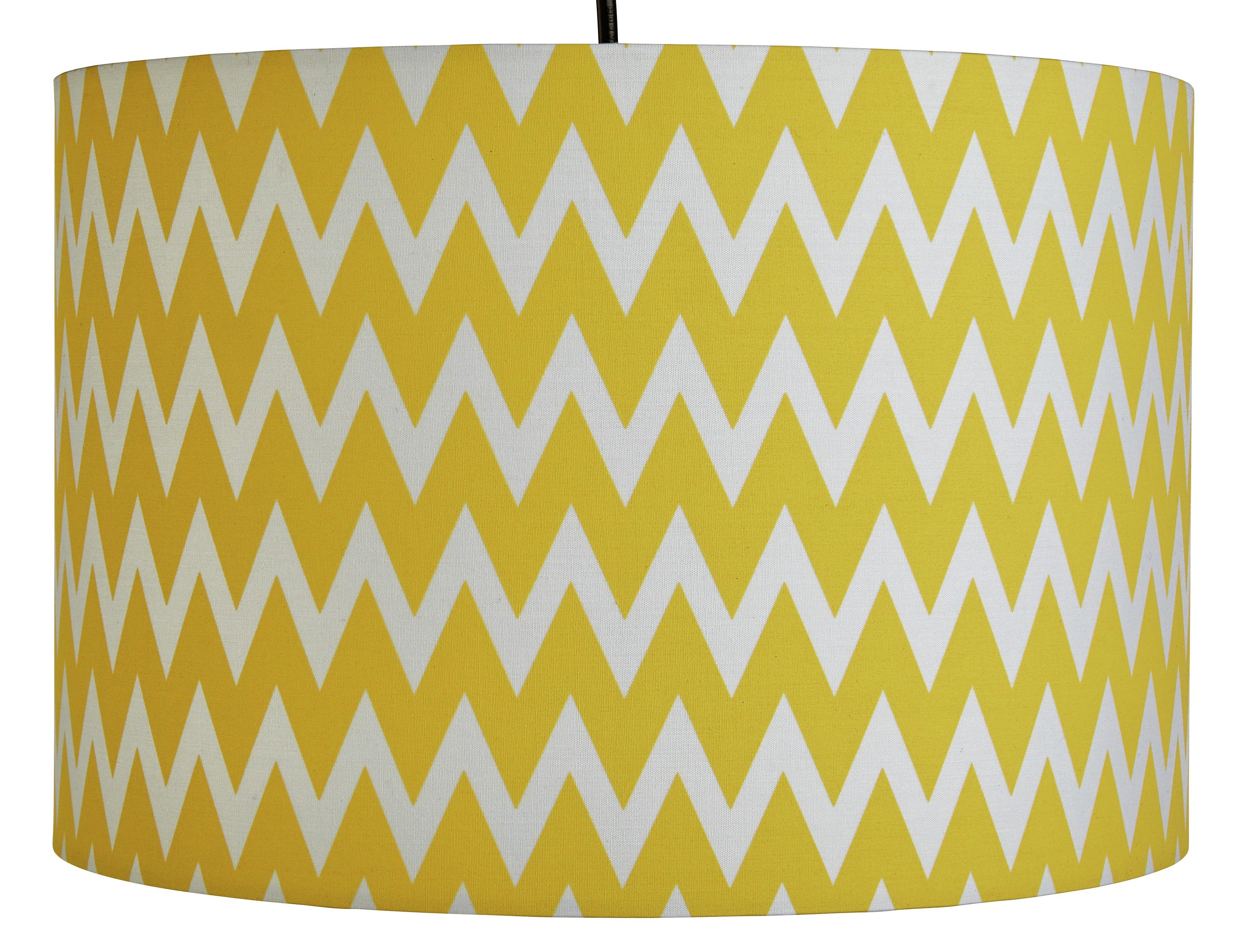 Argos Home Wave Pendant Light Shade - Yellow & White