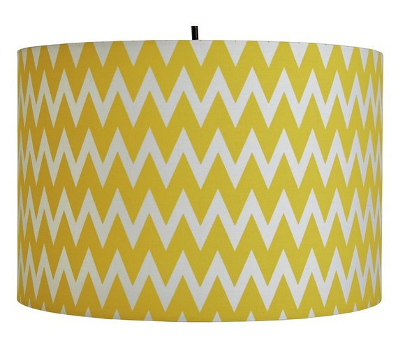 buy argos home wave pendant light shade yellow white lamp