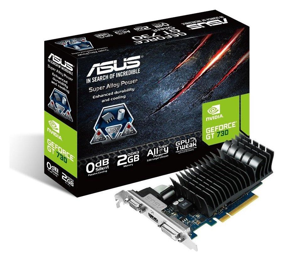 Asus GeForce NVIDIA GT 730 2GB Graphics Card.