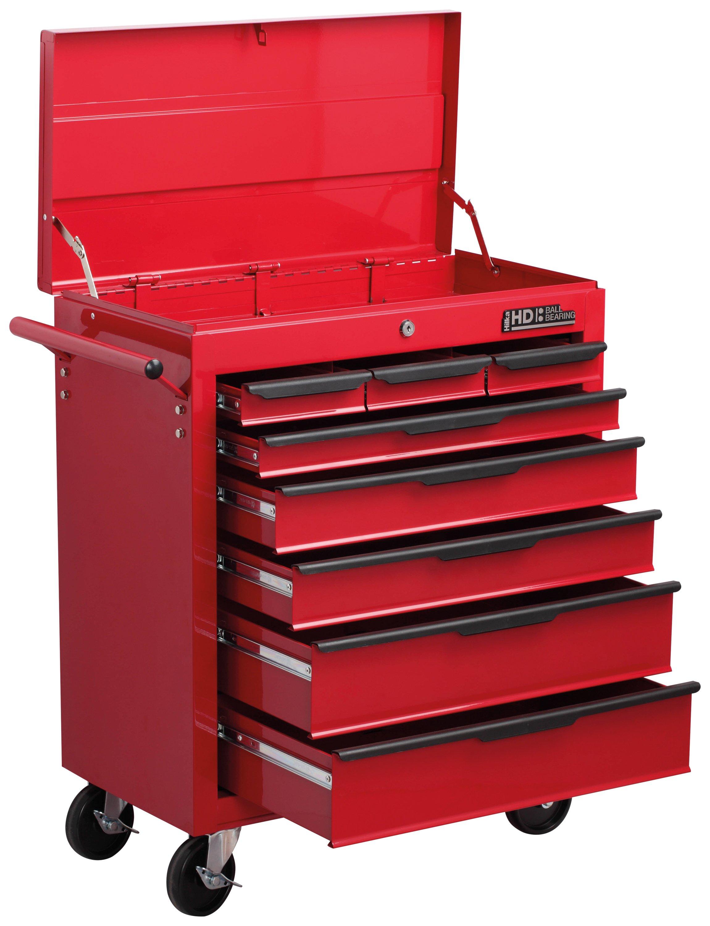 Hilka Heavy Duty 8 Drawer Trolley with Lid Storage