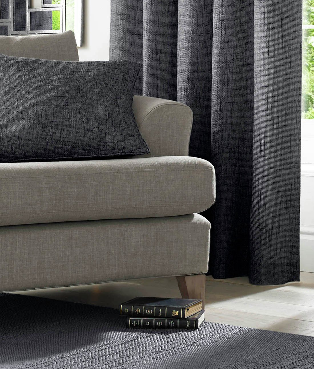 Academy Cushion Cover - Charcoal.