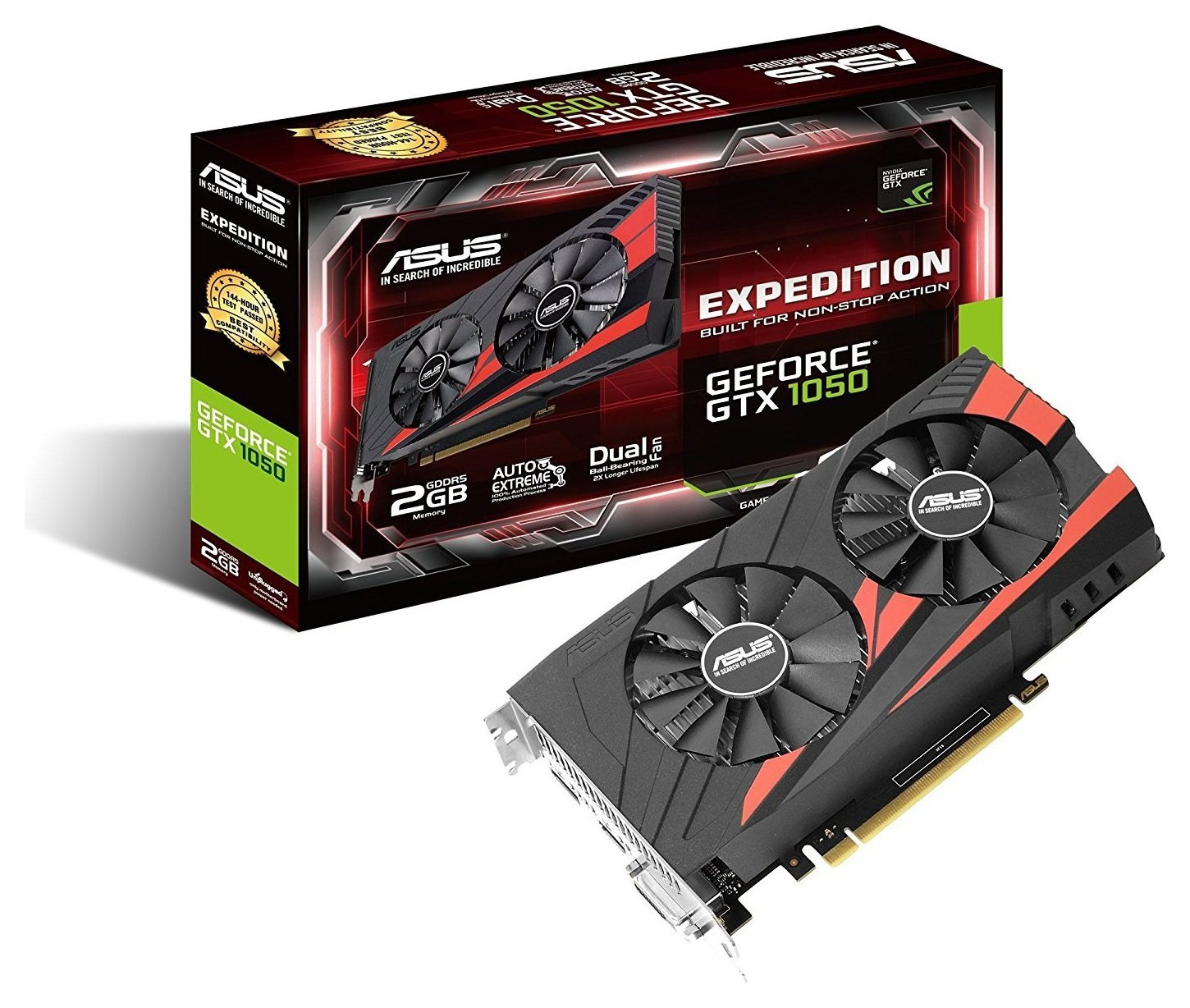 Asus Expedition GeForce NVIDIA GTX 1050 2GB Graphics Card.