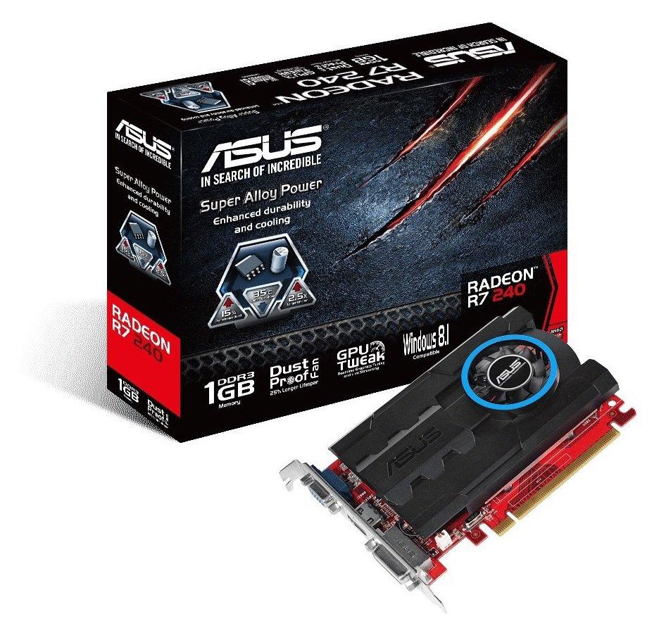 Asus Radeon AMD R7 240 1GB Graphics Card.