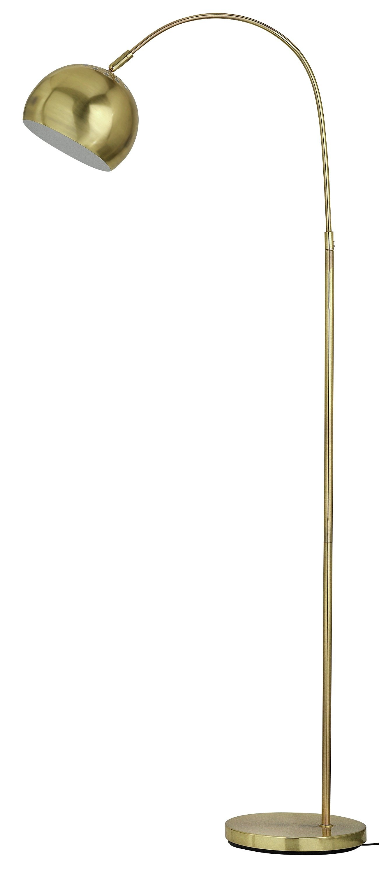 Argos Home Curva Floor Lamp   Brass by Argos