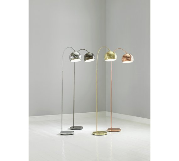 Buy HOME Curva Floor Lamp - Brass | Floor lamps | Argos