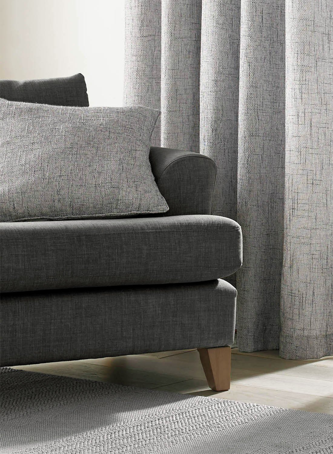 Image of Academy Cushion Cover - Grey.