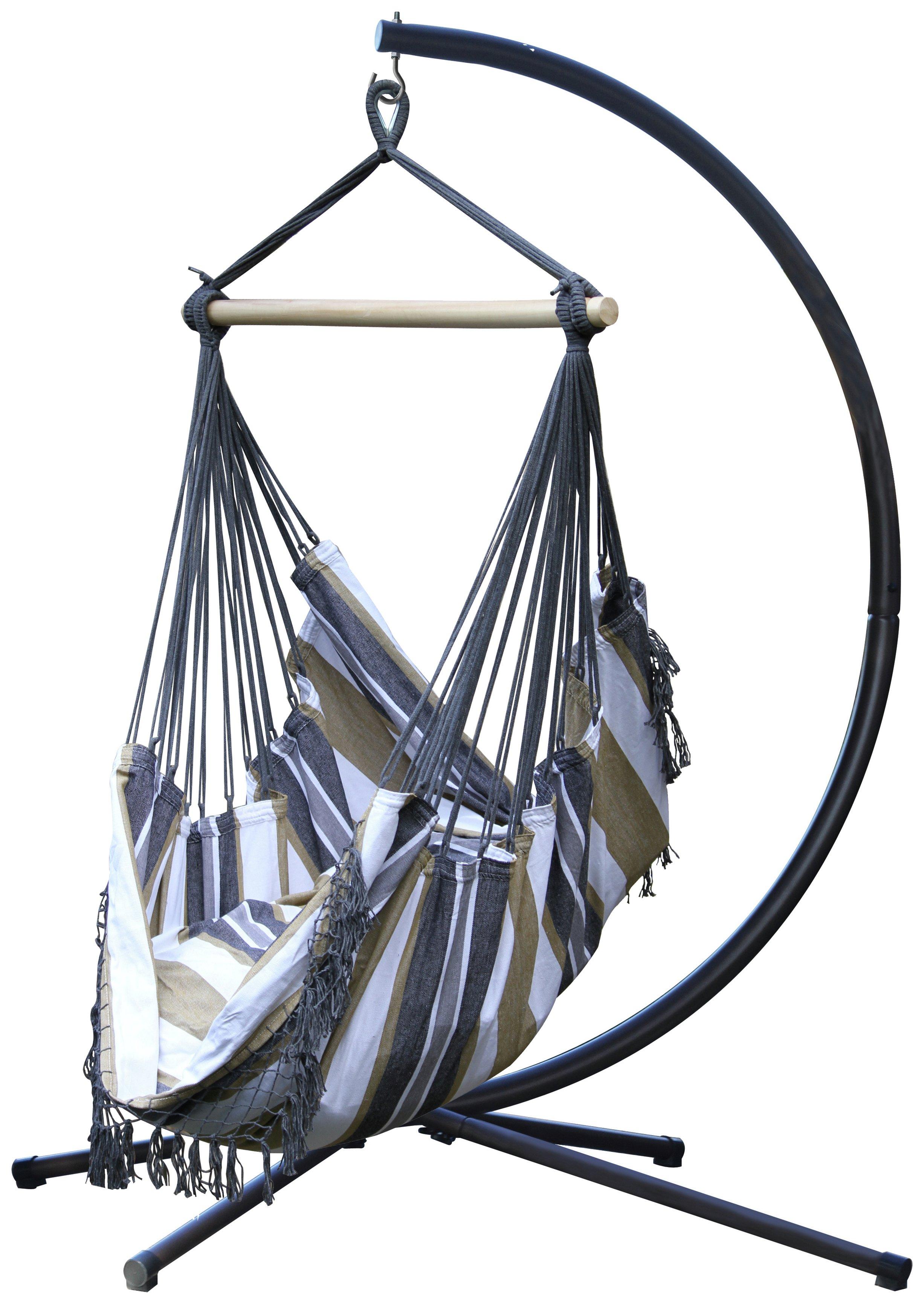 Vivere Brazil Hammock Chair with Stand - Desert Moon