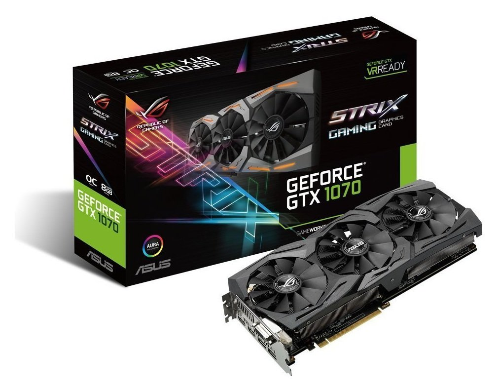 GTX 1070 gaming graphics cards are packed with exclusive ASUS technologies, including DirectCU III Technology with Patented Wing-Blade Fans for 30 percent cooler a...