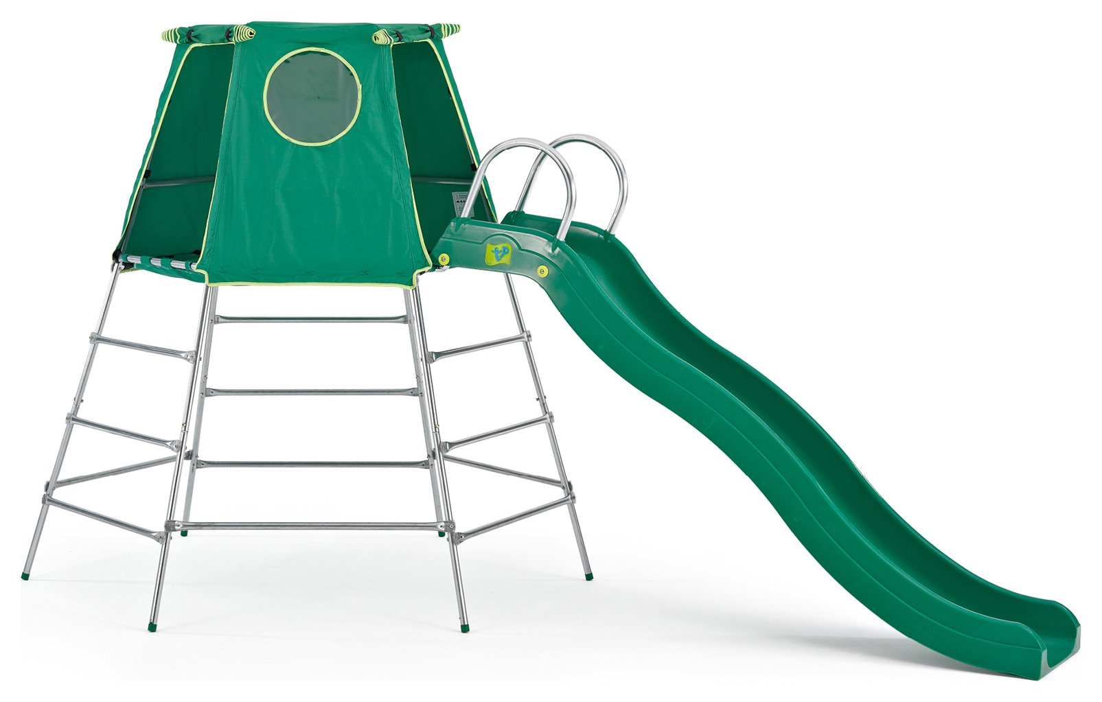 tp toys explorer climbing frame with playform and den.