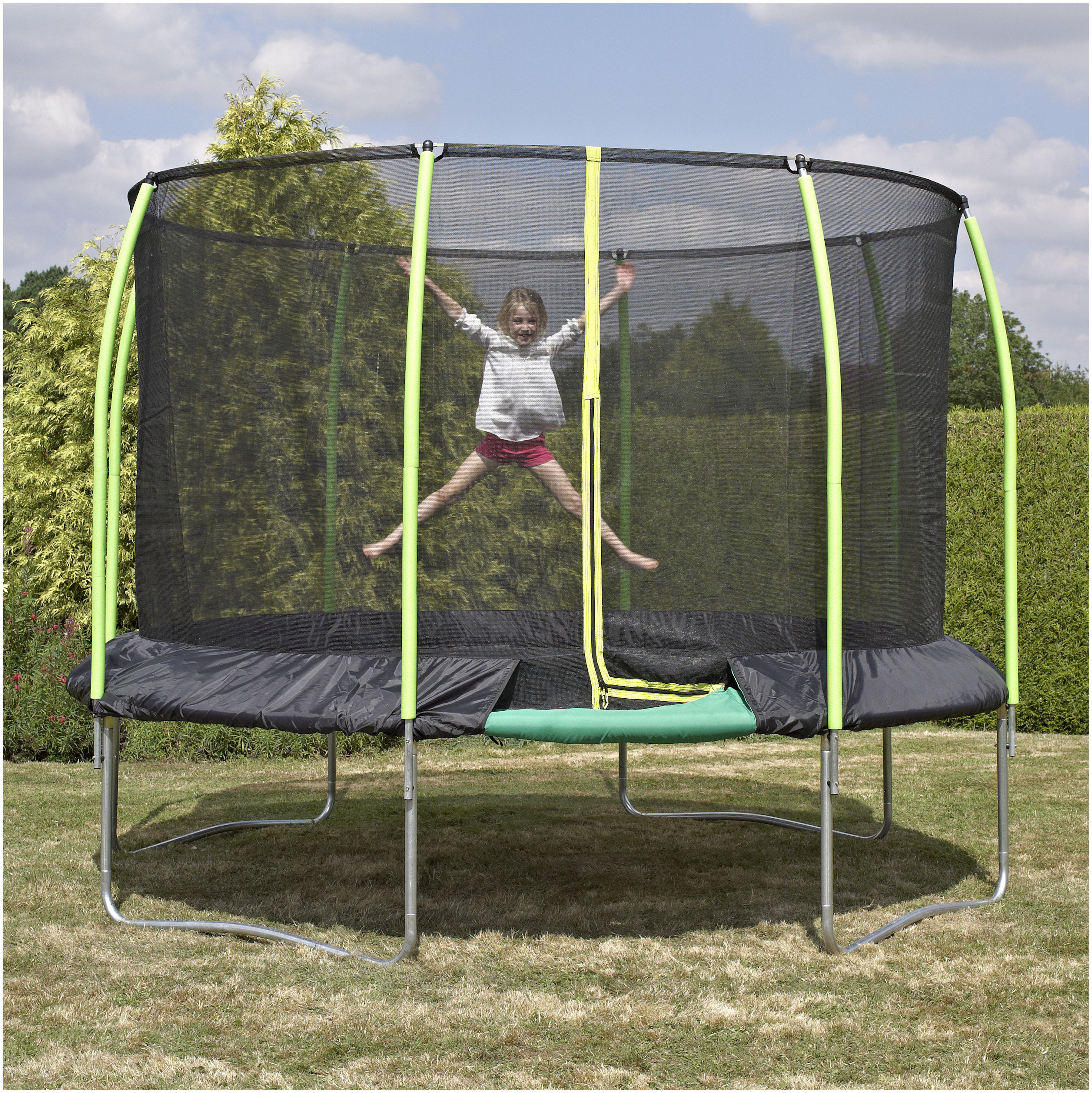 tp toys 12ft challanger trampoline.