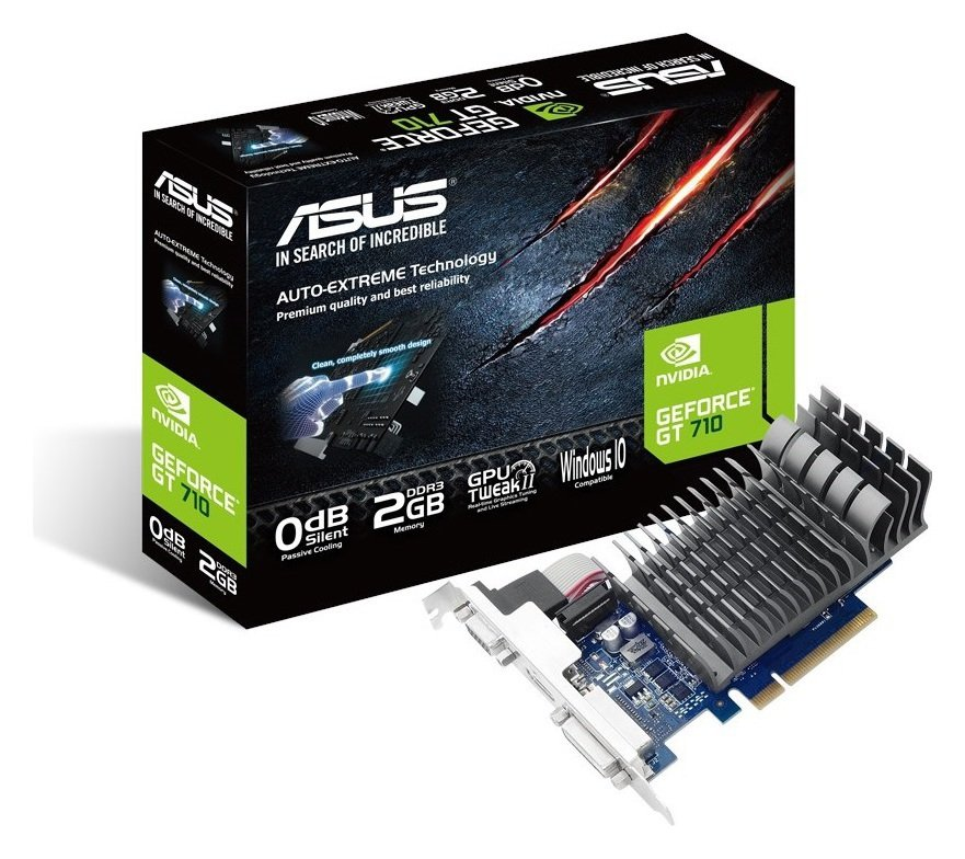 Asus GeForce NVIDIA GT 710 2GB Graphics Card.